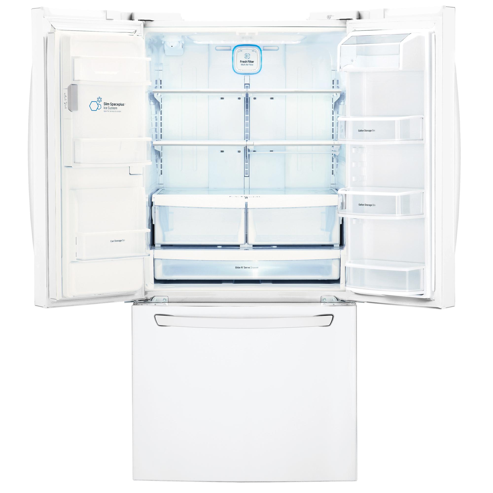 """LG LFXS24623W LFXS24623W 24.2 cu.ft. Capacity French Door Refrigerator w/ Ice & Water (33"""" Width)"""