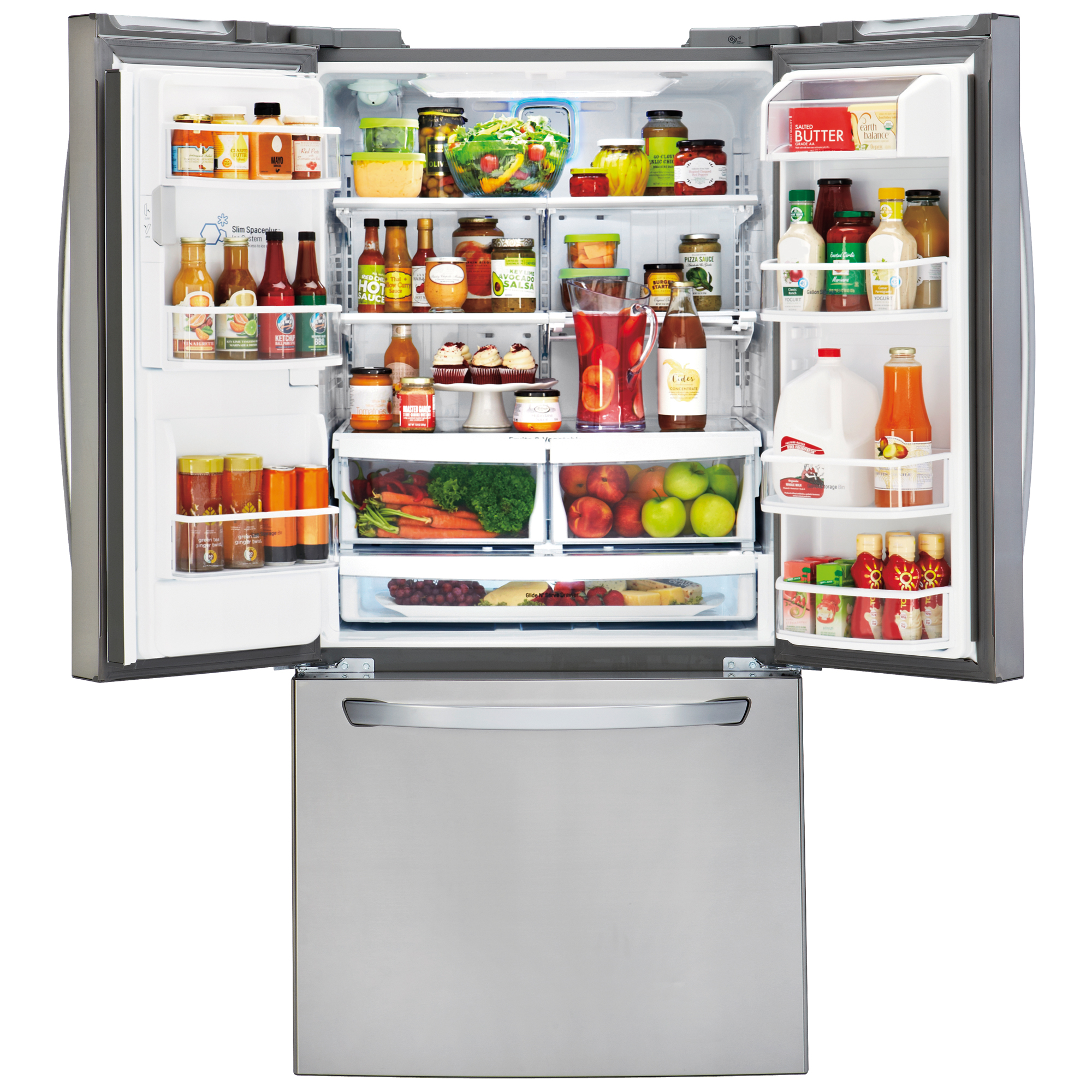 LG LFXS24623S 24.2 Cu. Ft. French Door Refrigerator w/ Ice & Water – Stainless Steel