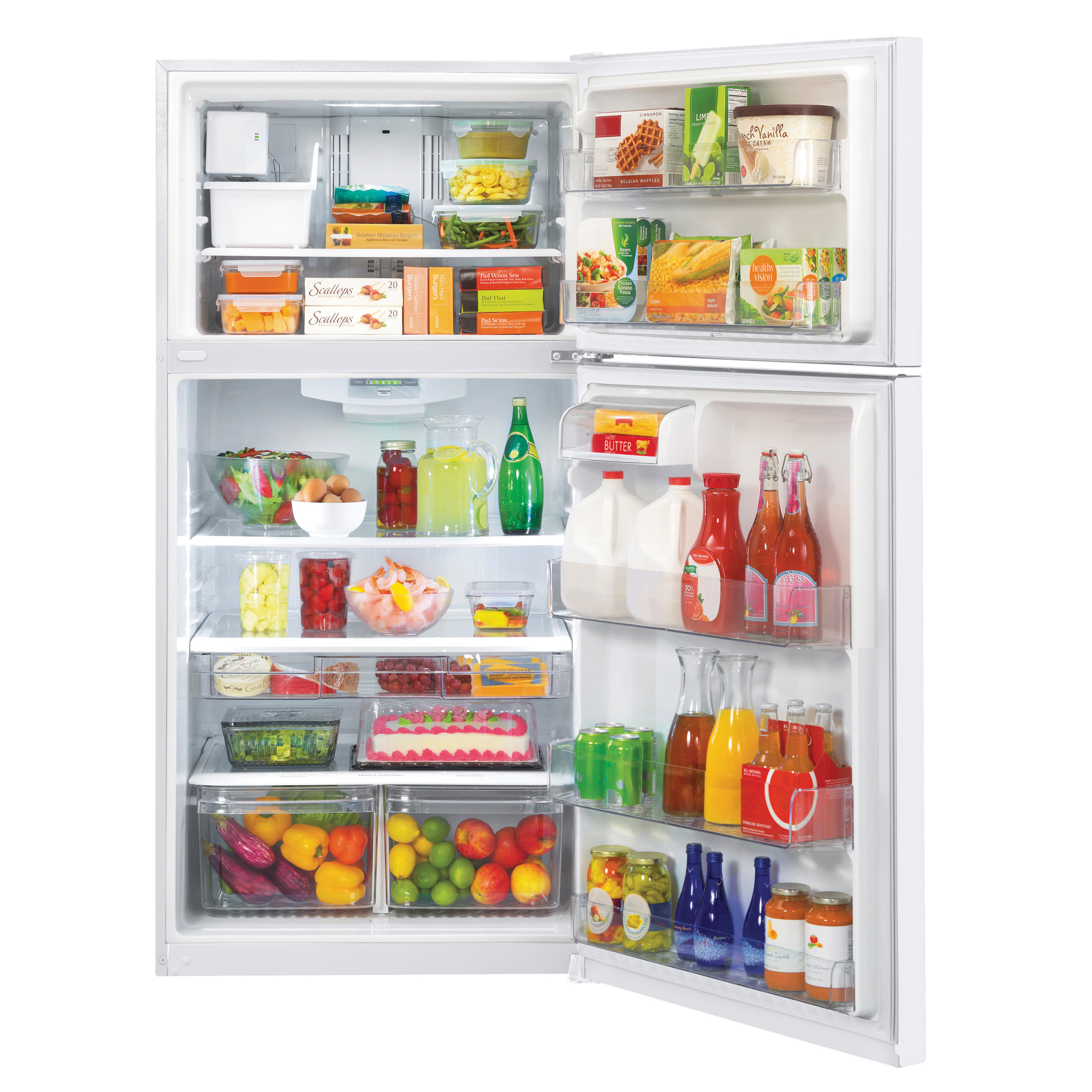 "LG LTCS24223W 23.8 cu. ft. 33"" Wide Top Freezer Refrigerator w/ Ice Maker"