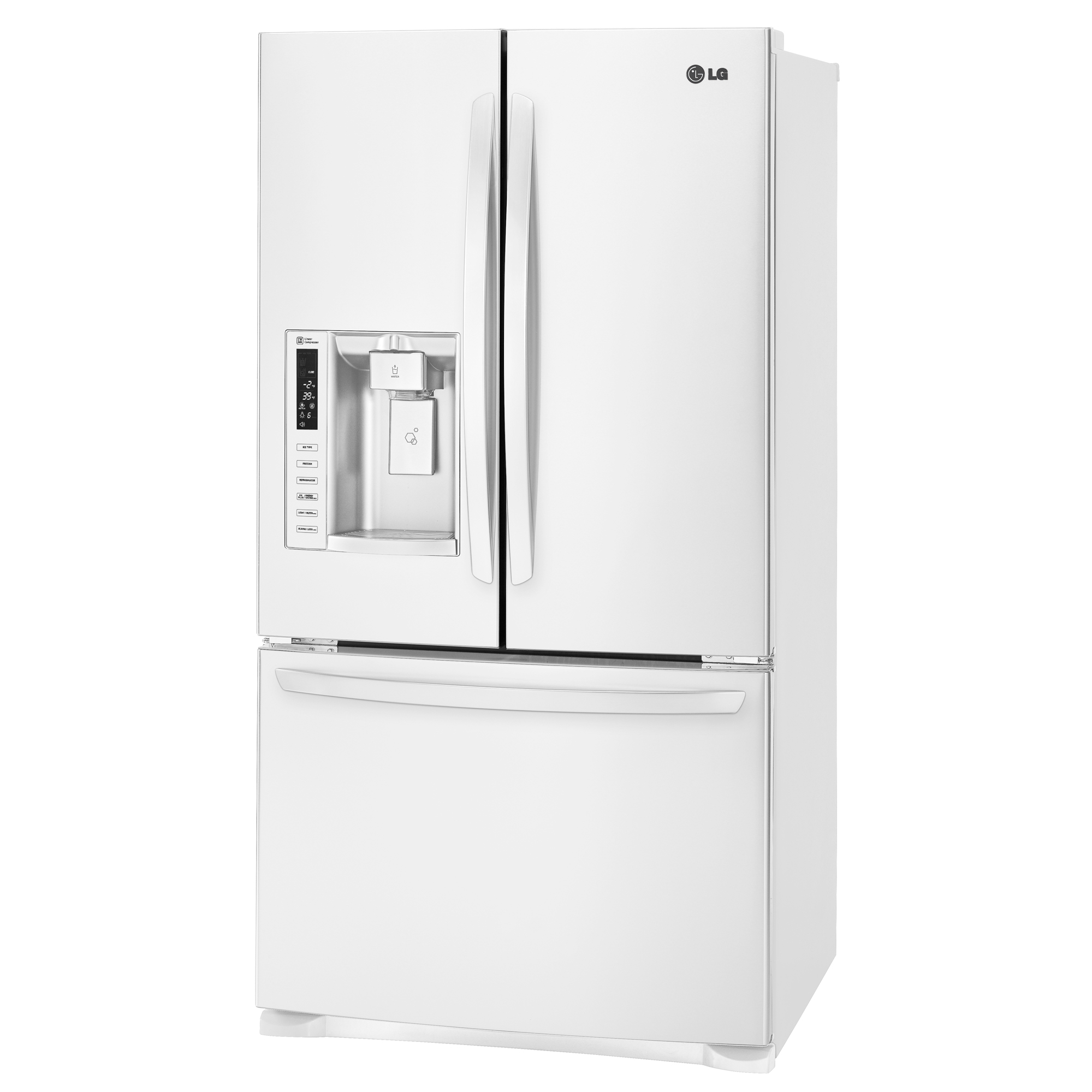 LG LFX28968SW 26.8 Cu. Ft. White Bottom-Freezer Refrigerator