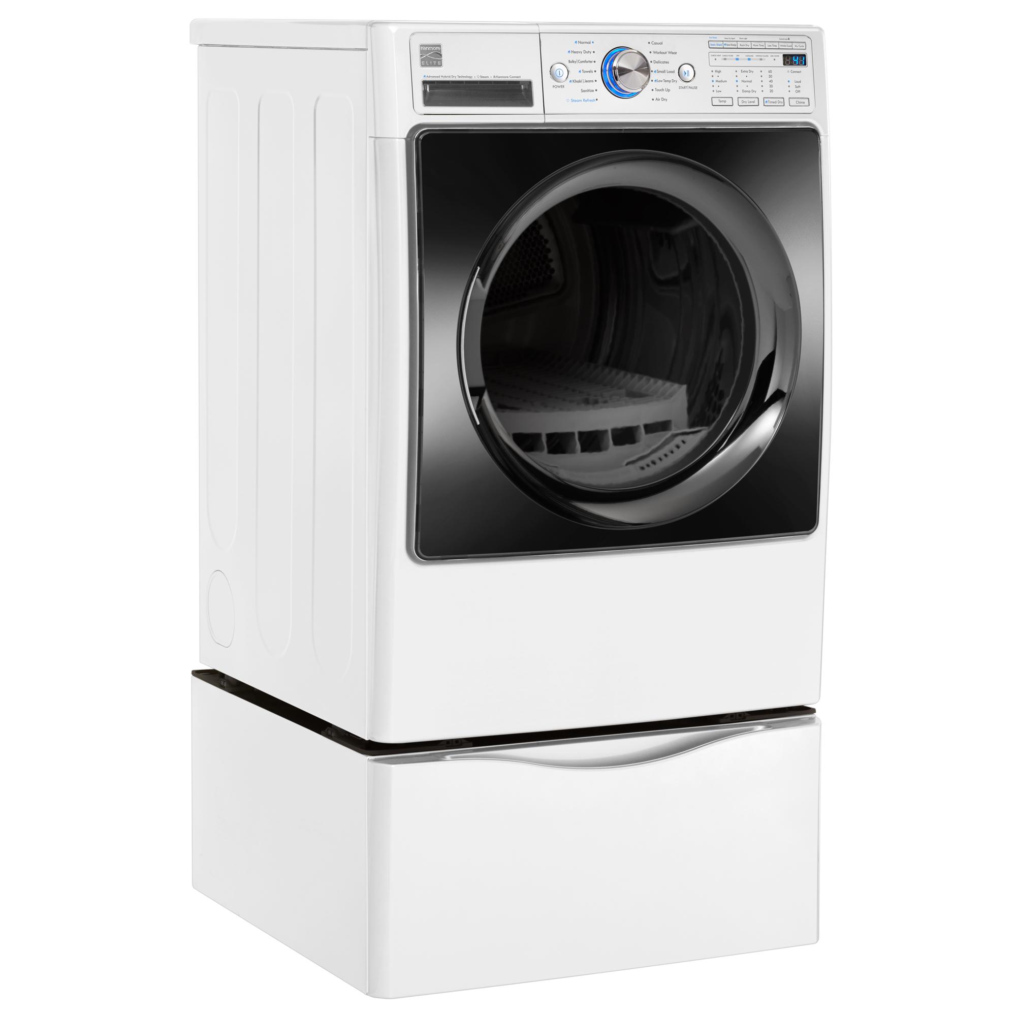 Kenmore Elite 81592 7.3 cu. ft. Advanced Hybrid Dry Technology (Heat Pump) Electric Dryer w/ Steam – White
