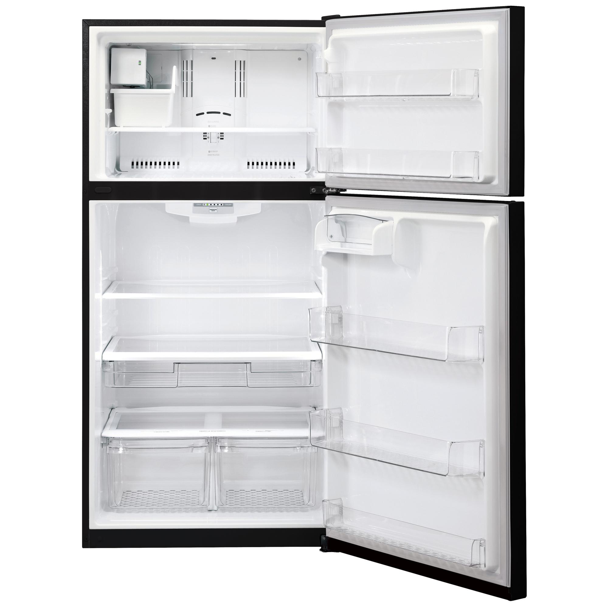 "LG LTCS20220B 20.2 cu. ft. Top Freezer Refrigerator w/ Ice Maker (30"" Wide) – Black"