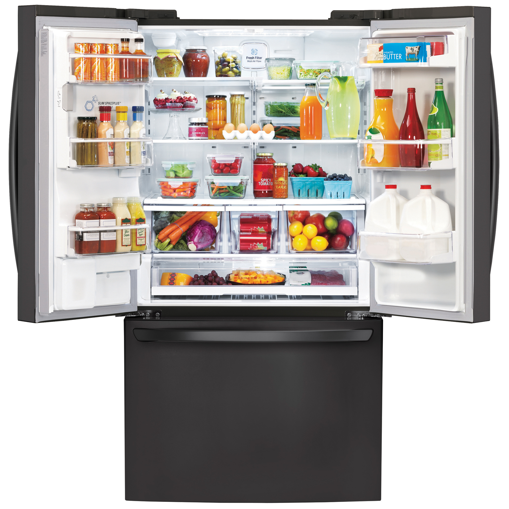 LG LFXS29626B 28.8 cu. ft. Ultra-Capacity French Door Refrigerator w/ Smart Cooling Plus - Black