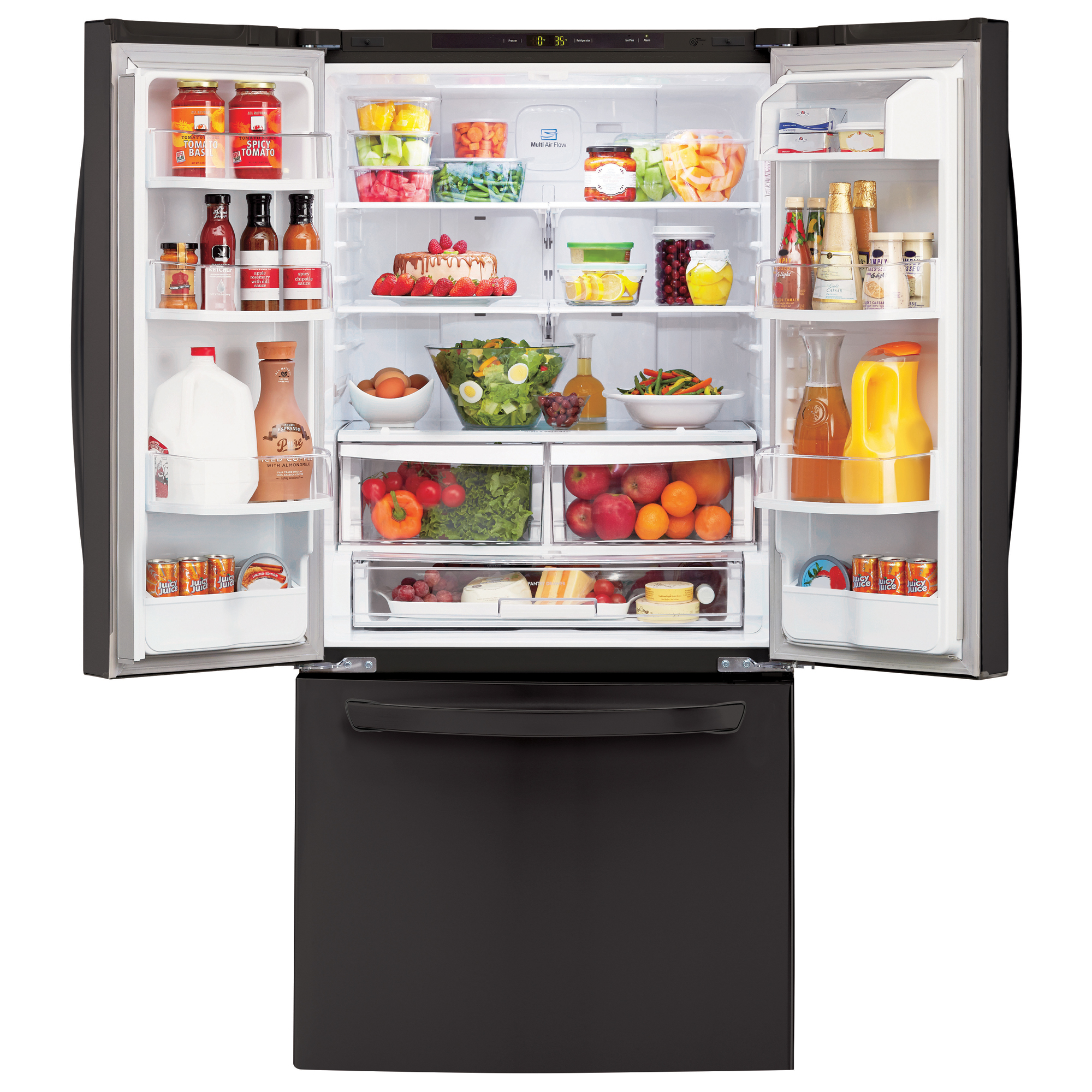 "LG LFC24770SB Super Capacity 23.6 cu.ft. French Door Refrigerator w/Smart Cooling (33"" Width)"