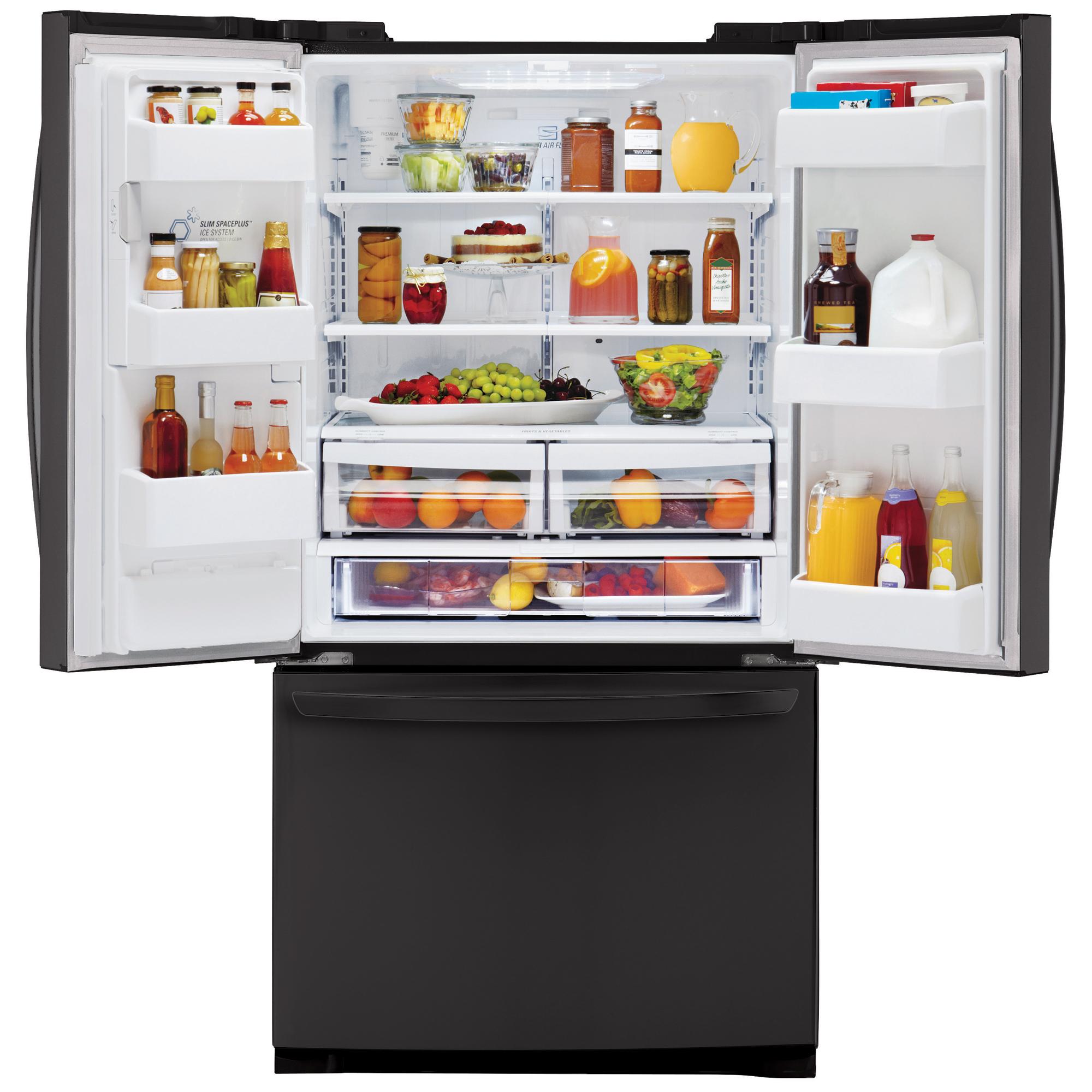 LG LFX25974SB 24.7 Cu. Ft. French Door Black Bottom-Freezer Refrigerator