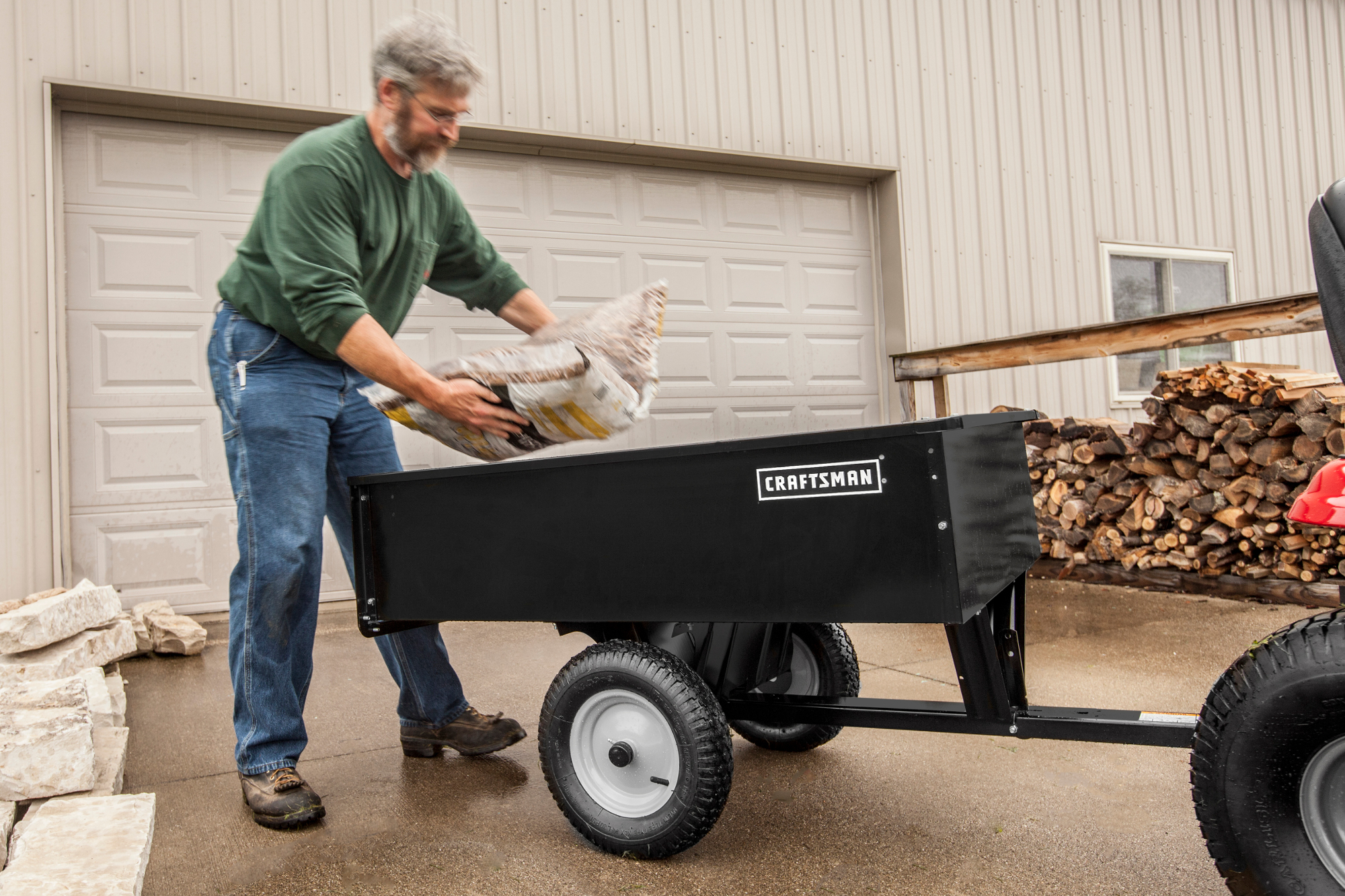 Craftsman 12 cu. ft. Steel Dump Cart
