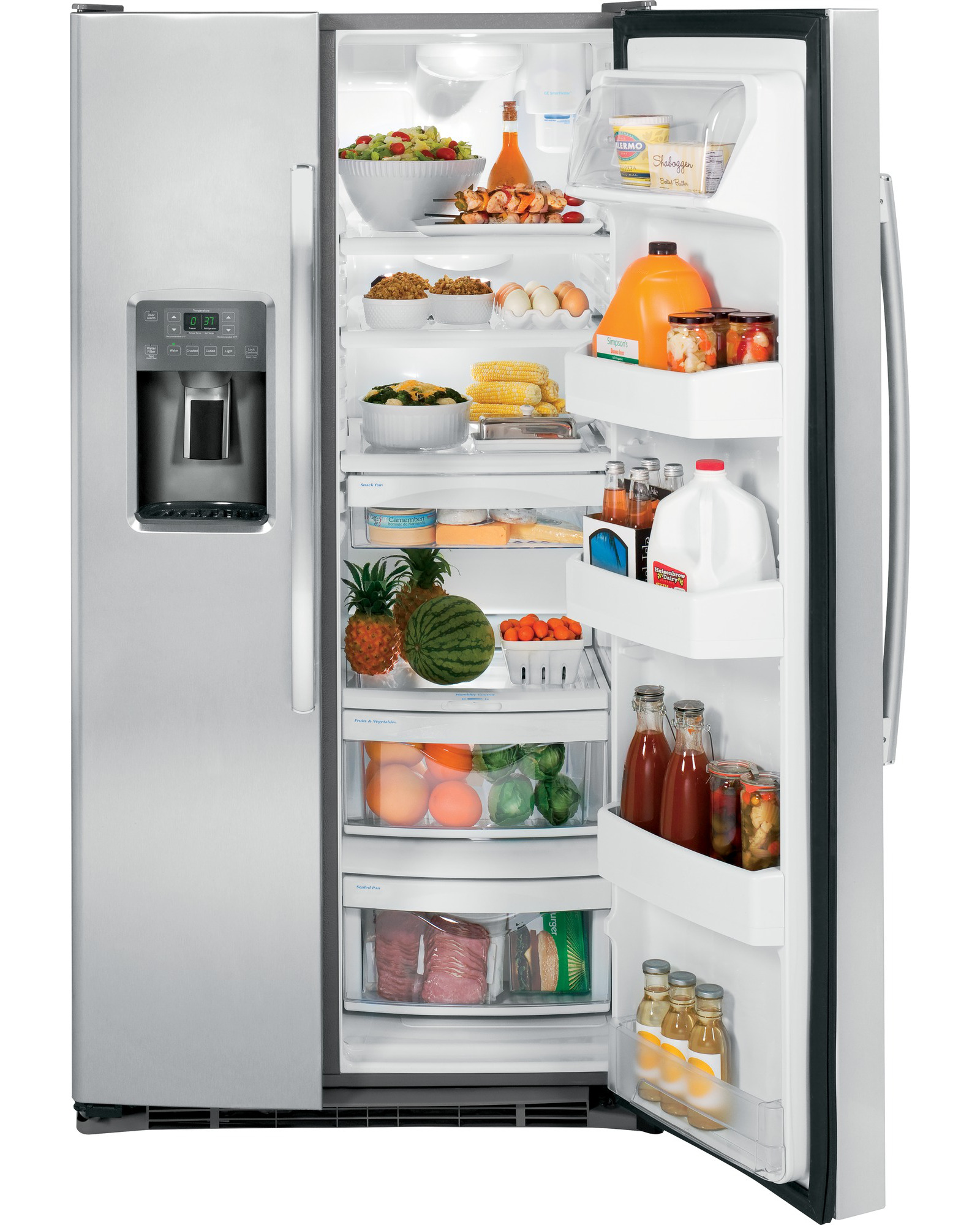 GE Appliances GSE25GSHSS 25.4 cu. ft. Side-by-Side Refrigerator - Stainless Steel