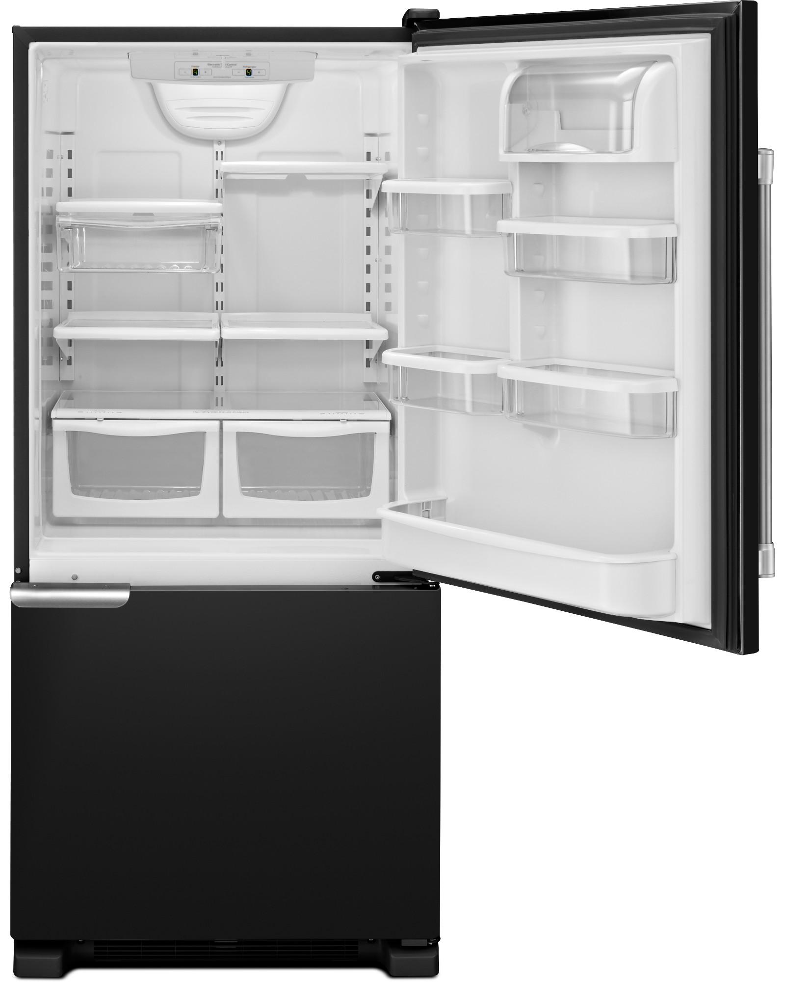 Maytag MBF1953DEE 19 cu. ft. Single Door Bottom Freezer Refrigerator - Black