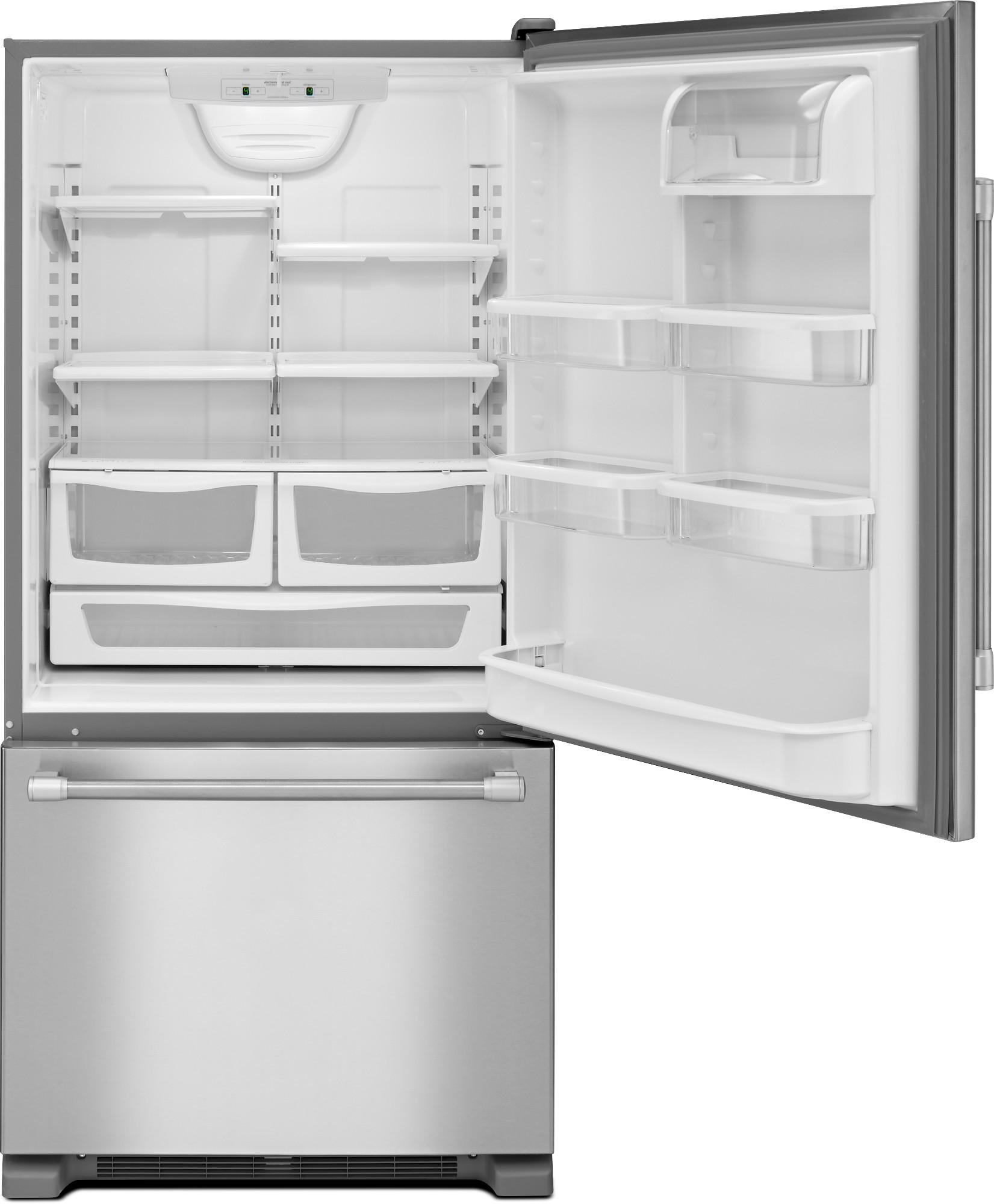 Maytag MBF2258DEM 22 cu. ft. Single Door Bottom Freezer Refrigerator - Stainless Steel