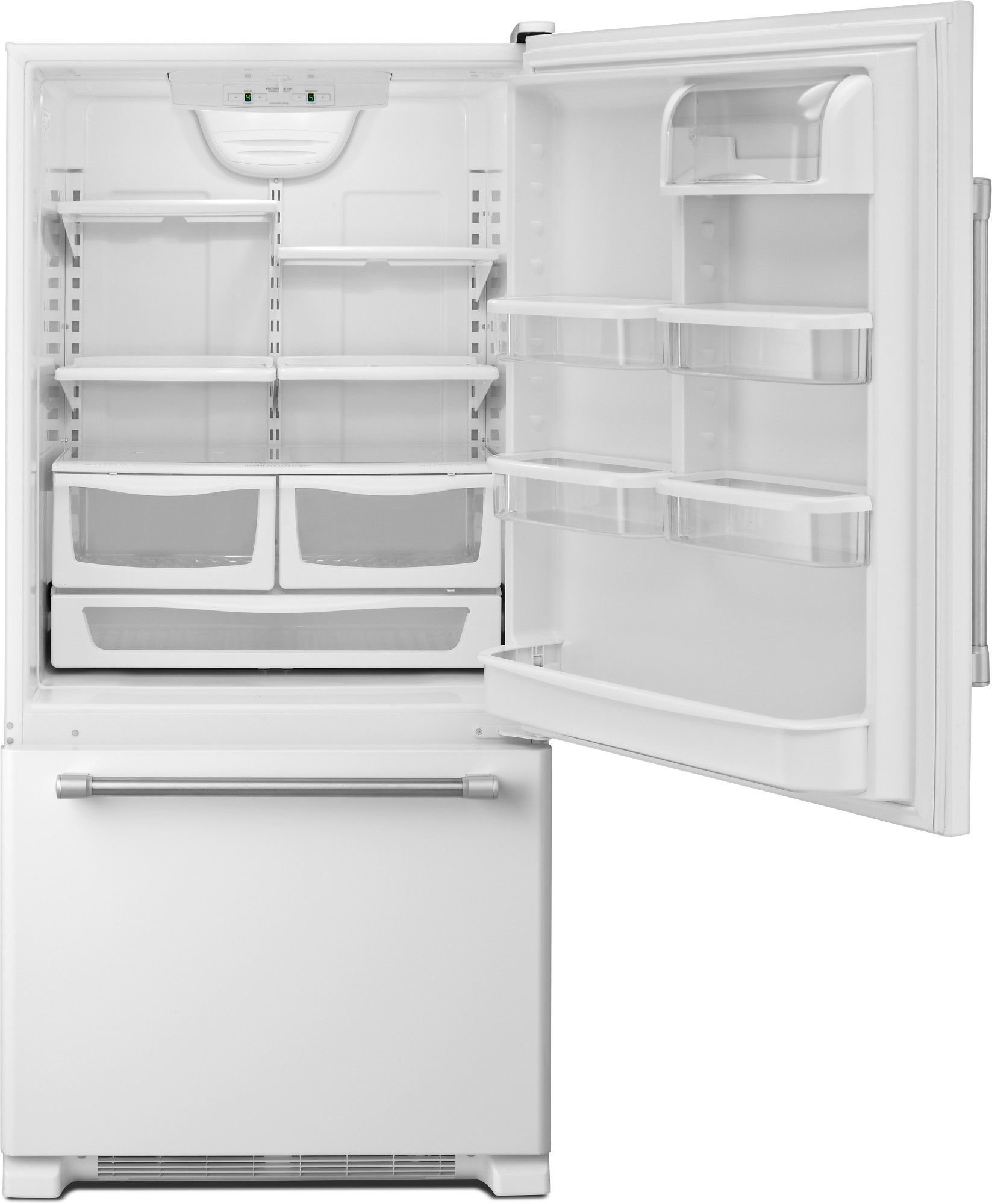 Maytag MBF2258DEH 22 cu. ft. Single Door Bottom Freezer Refrigerator - White