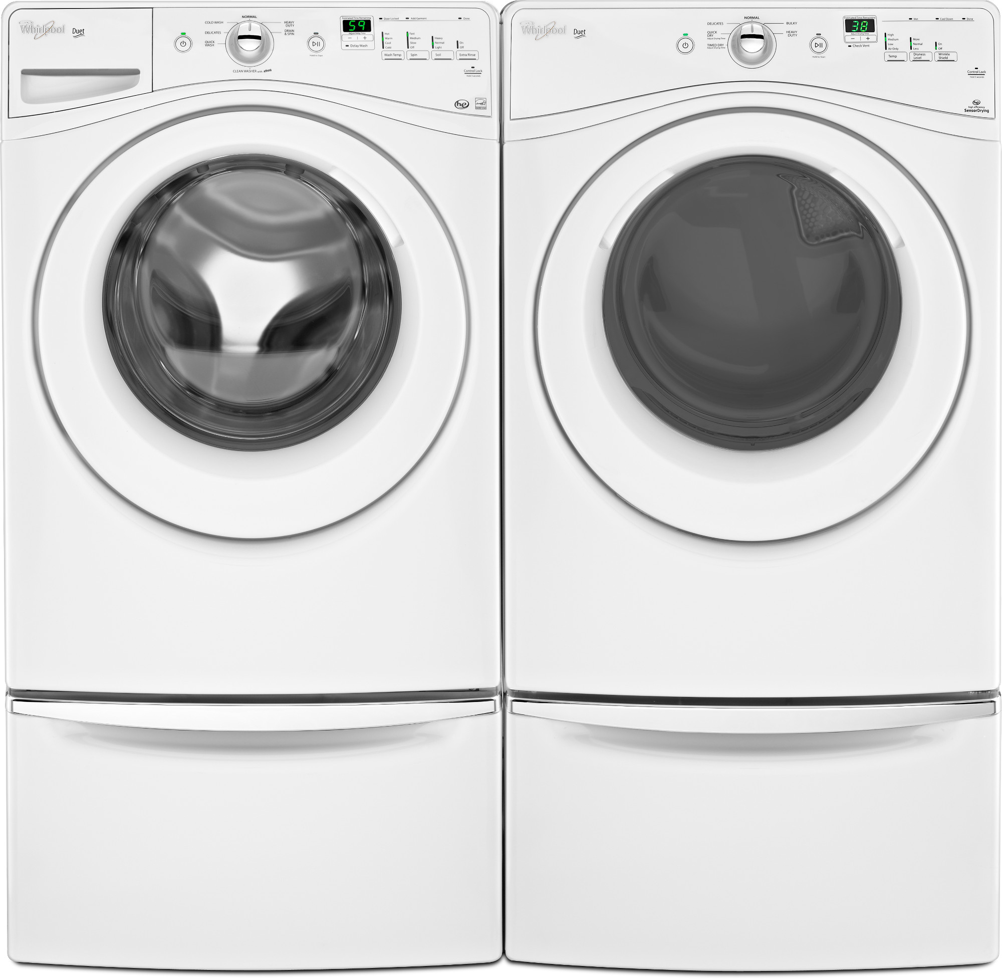 Whirlpool 7.3 cu. ft. Duet® Front Load Dryer - White WED71HEBW