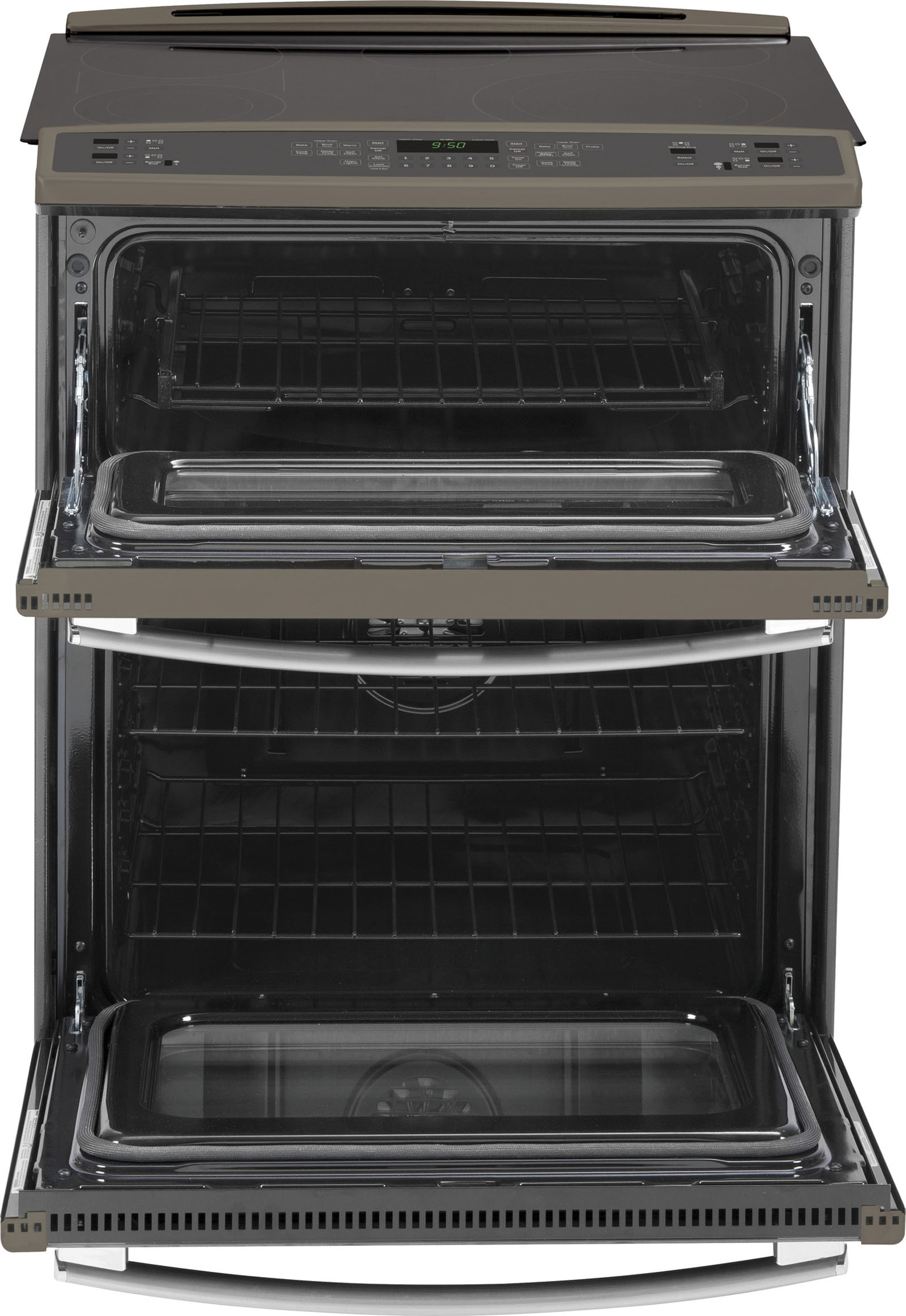 GE Profile PS950EFES 4.4 cu. ft. Slide-In Electric Range w/ Convection Double Oven - Slate