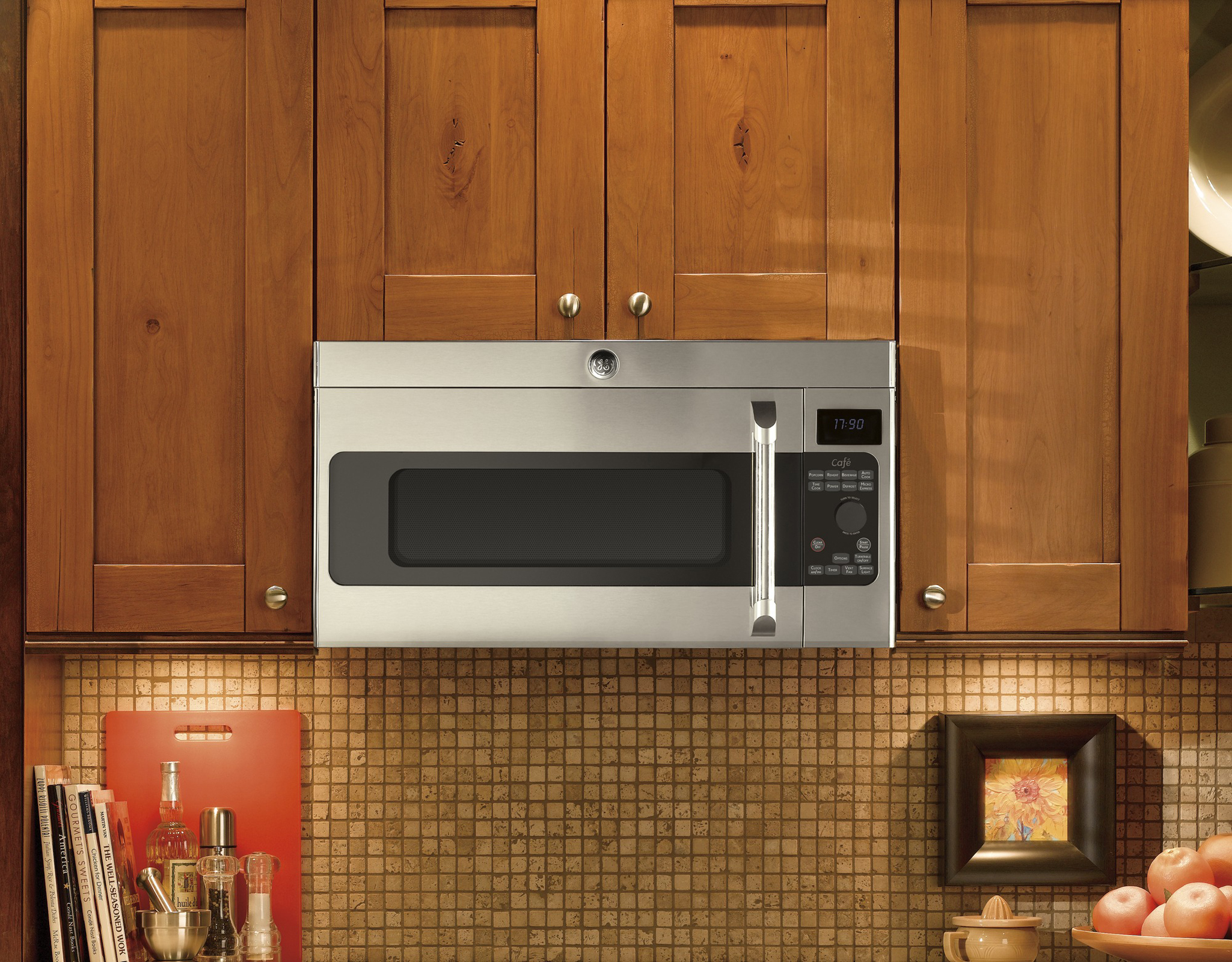 GE Cafe™ Series CVM1750SHSS 1.7 cu. ft. Over-the-Range Microwave Oven - Stainless Steel
