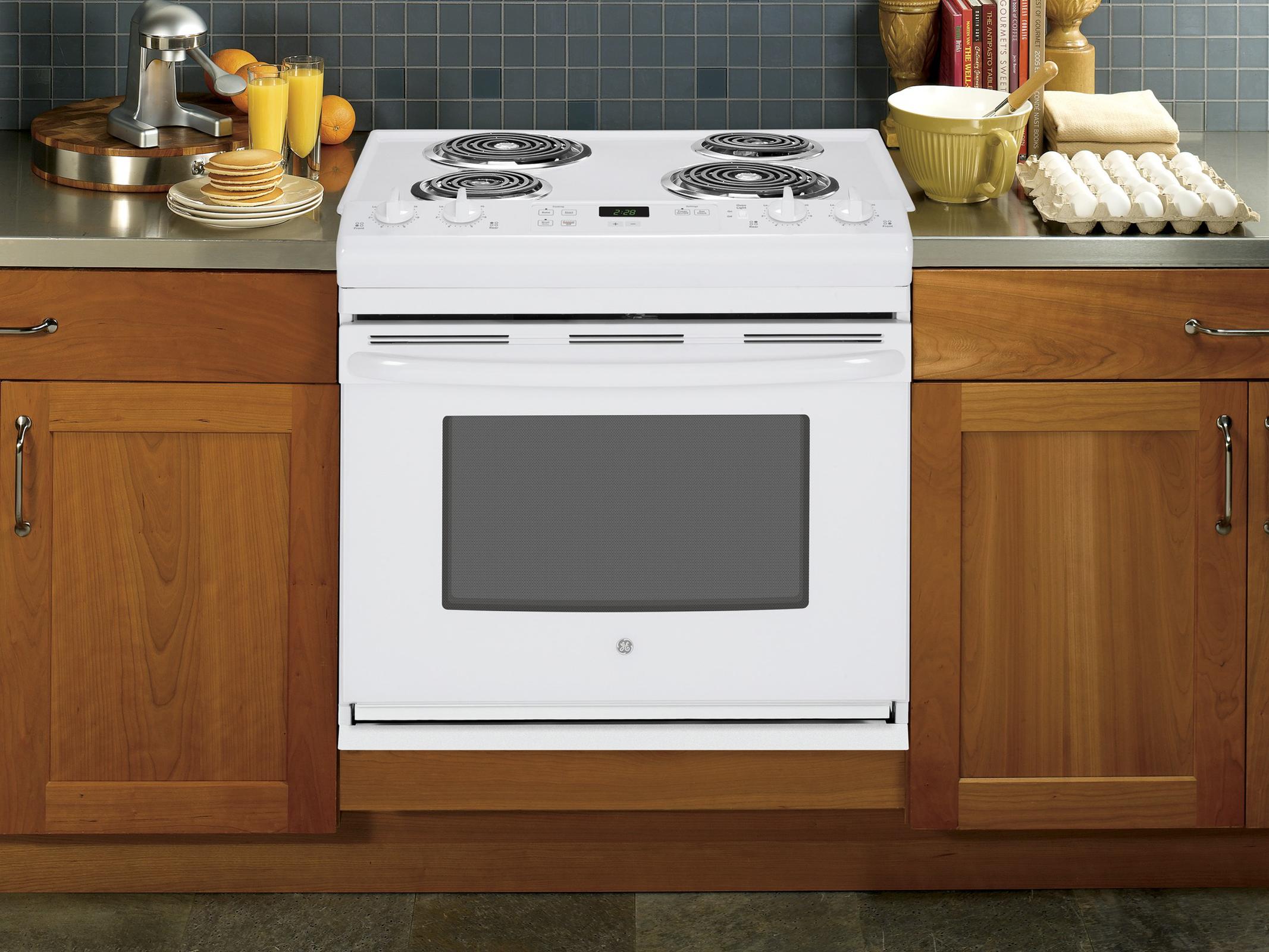 "GE Appliances 30"" Drop-In Electric Range - White"