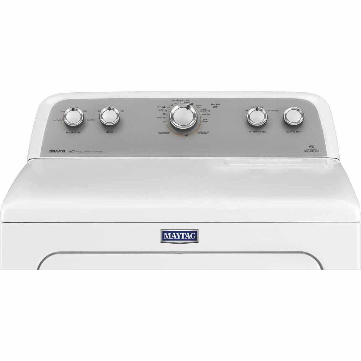 Maytag MEDX655DW 7.0 cu. ft. Bravos® Electric Dryer w/ Sanitize Cycle - White