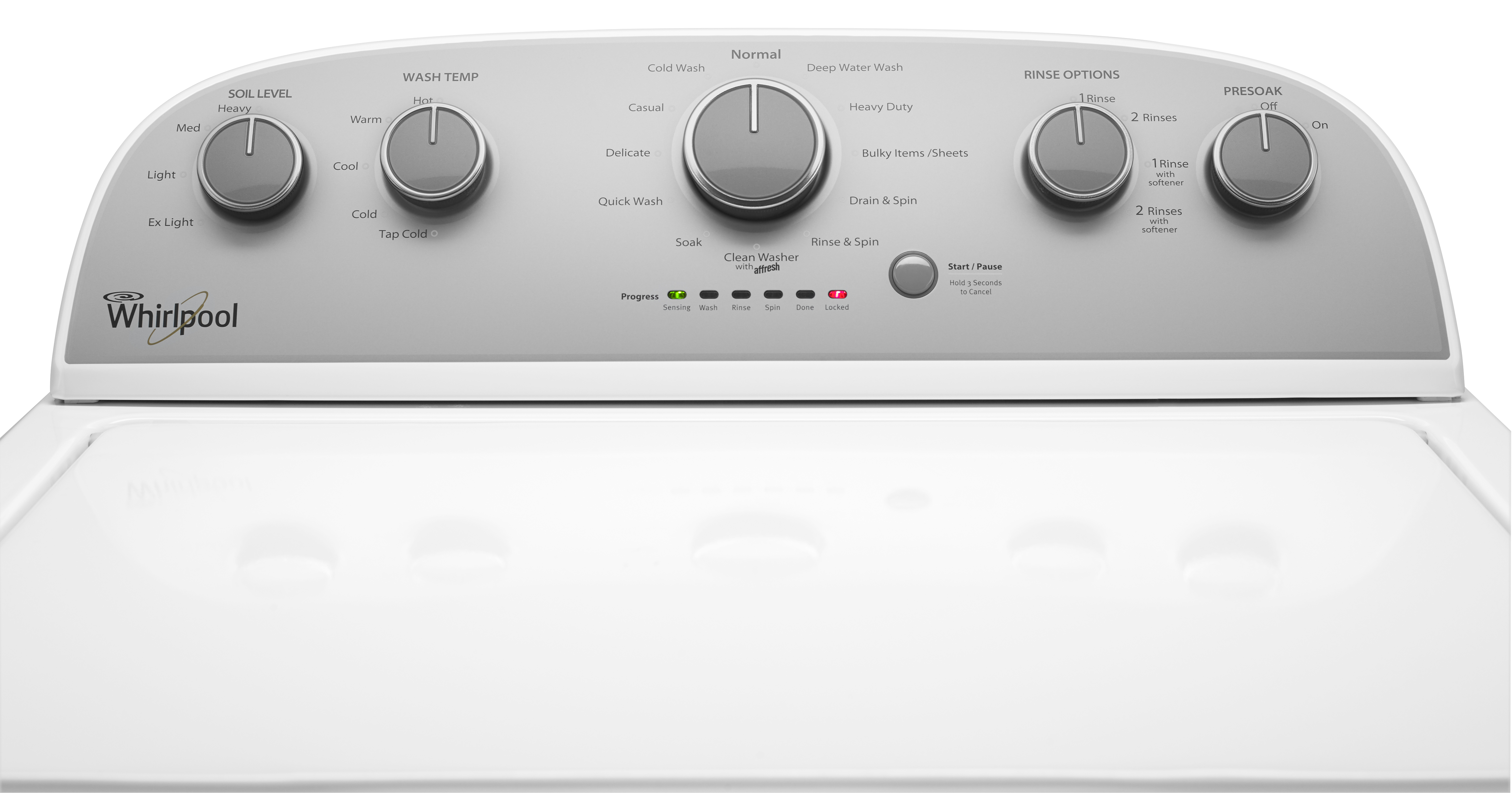 Whirlpool WTW5000DW 4.3 cu. ft. Cabrio Top Load Washer w/ Stainless Steel Wash Basket - White