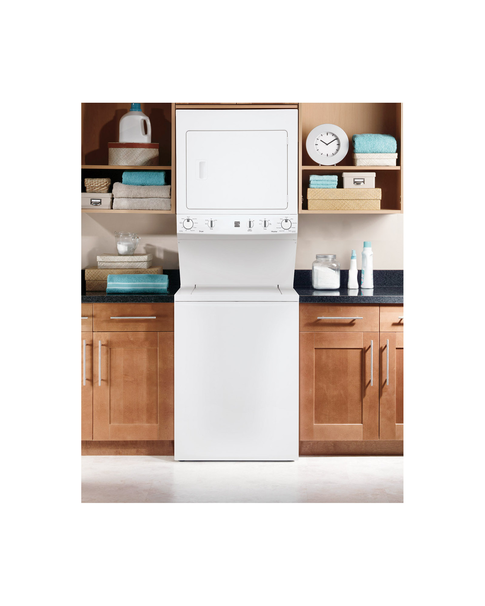 "Kenmore High Efficiency 27"" Super Capacity 3.8 cu. ft. Gas Laundry Center - White"