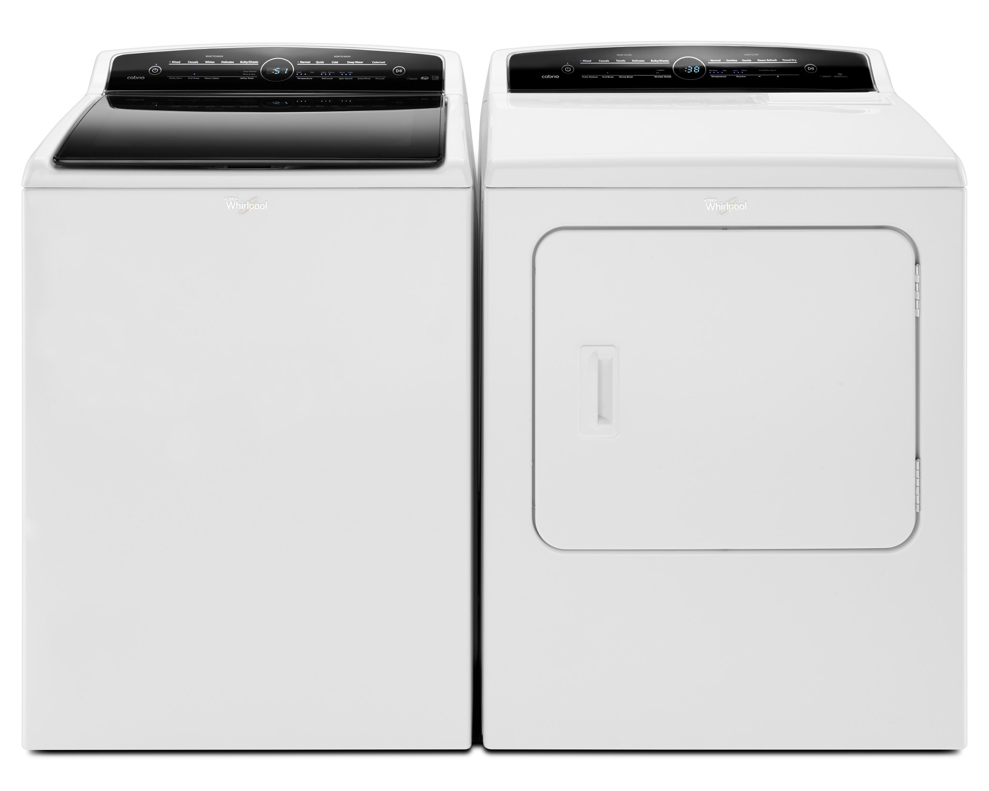 Whirlpool WTW7300DW 4.8 cu. ft. Cabrio® Top Load Washer with Steam - White