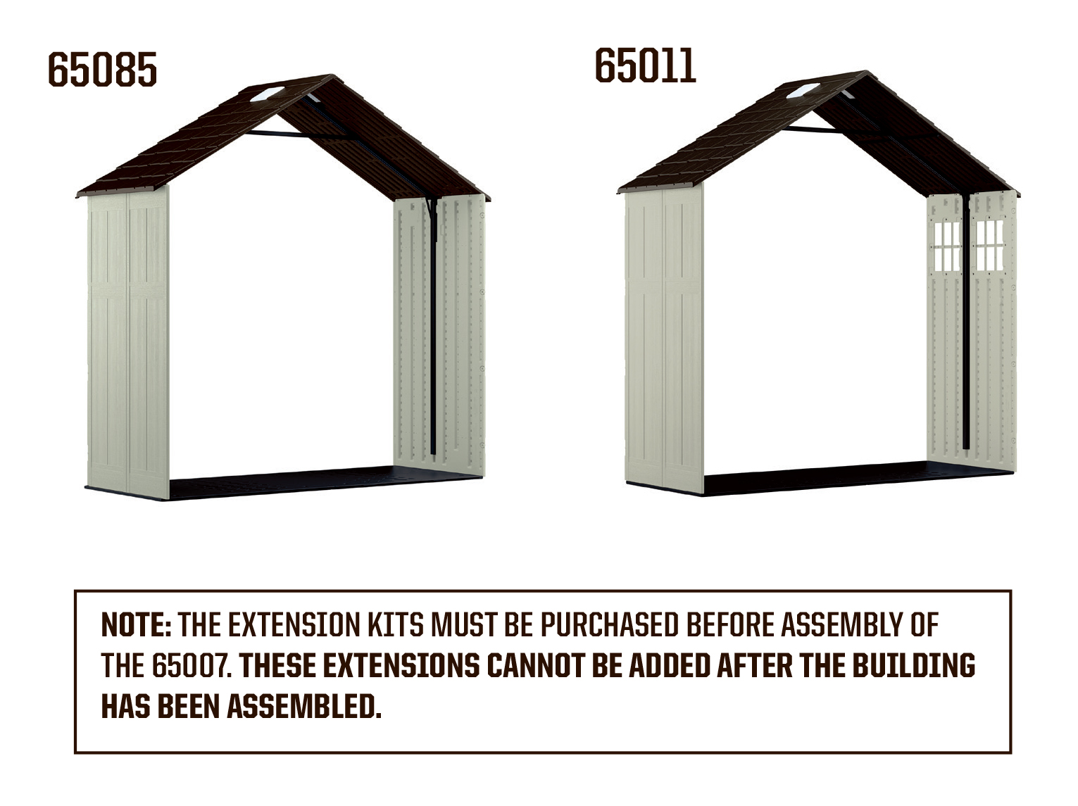 Craftsman 3-ft. Shed Extension Kit for 65007 8X7