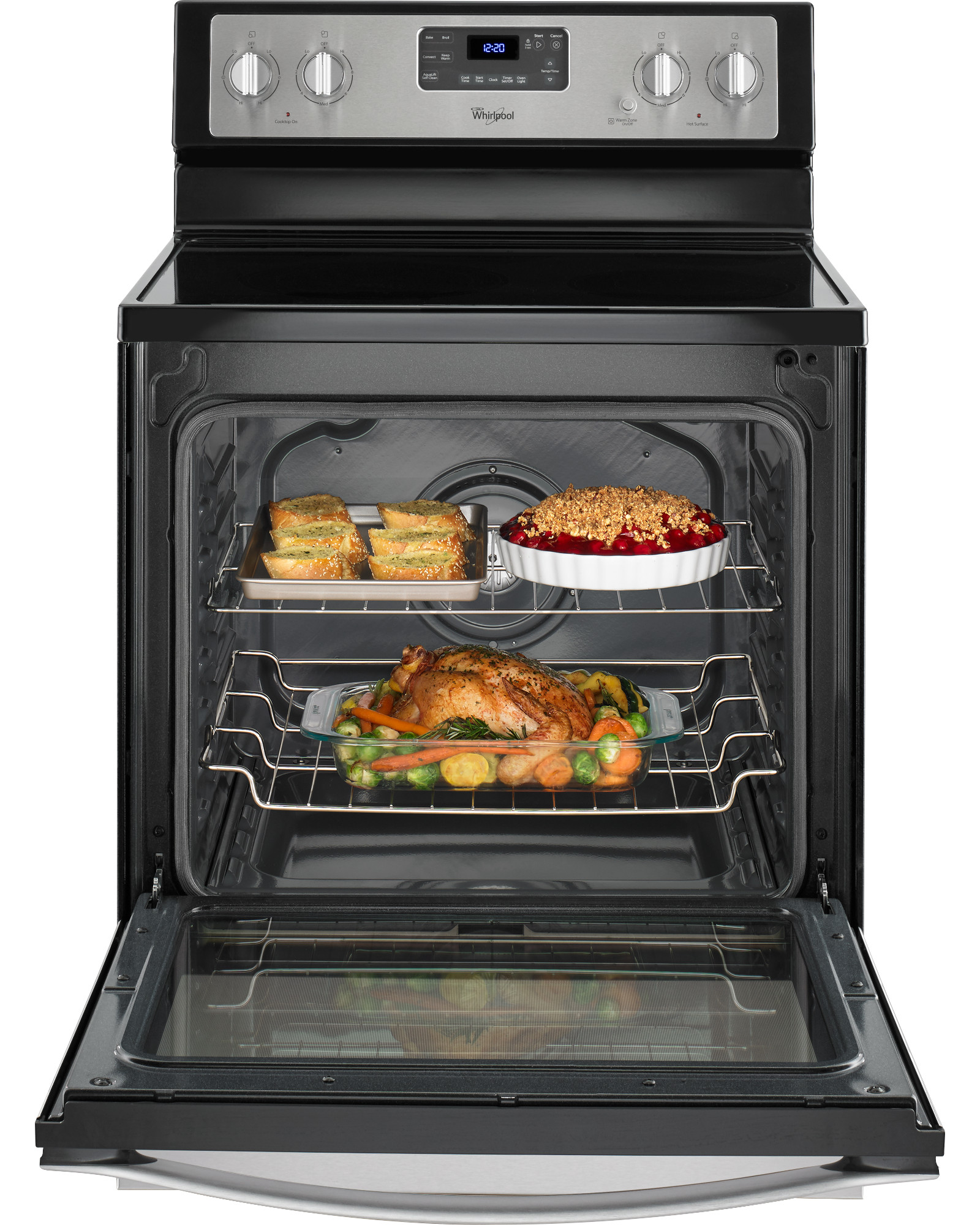 Whirlpool 6.4 cu. ft. Freestanding Electric Range - Stainless Steel