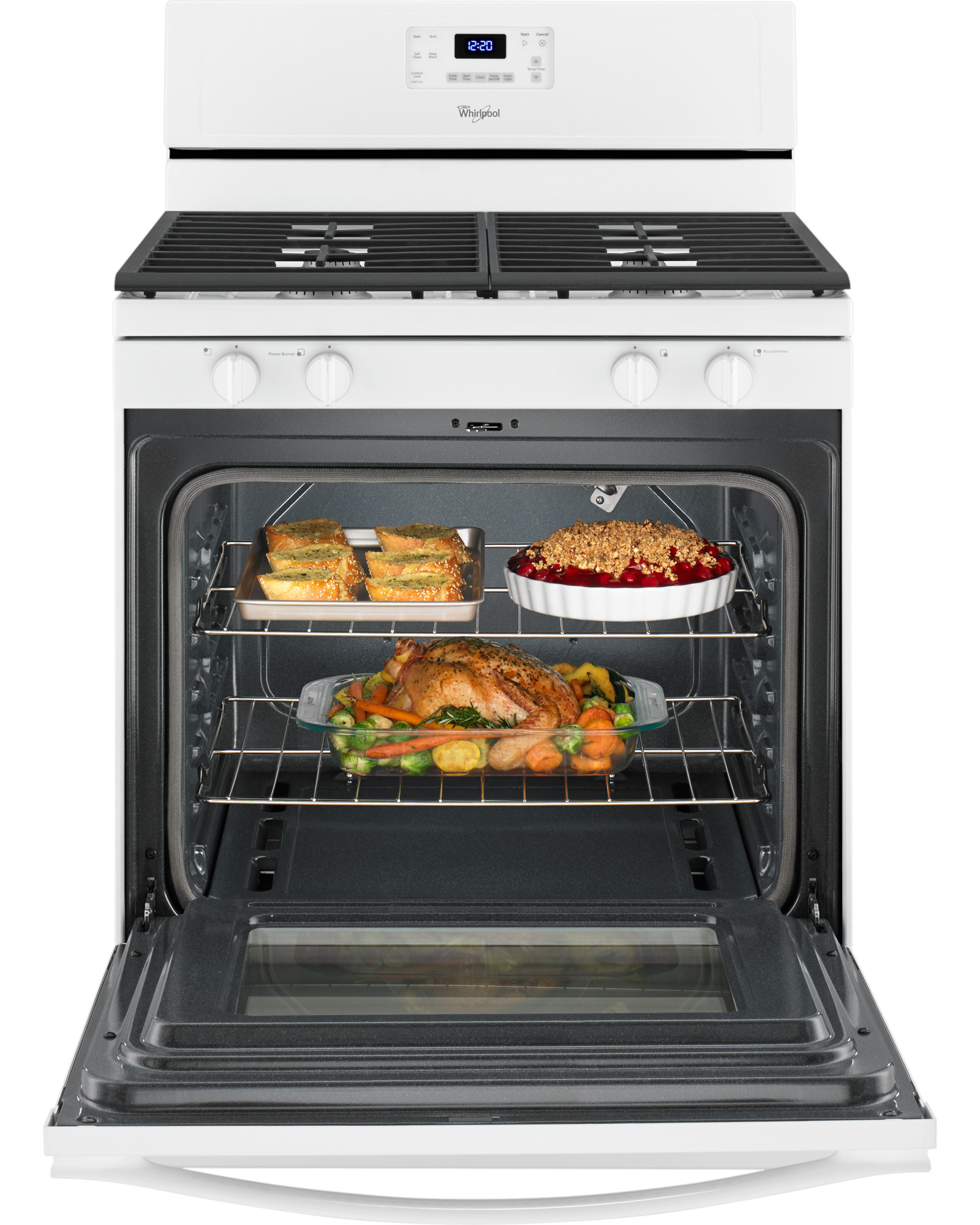 Whirlpool WFG515S0EW 5.0 cu. ft. Freestanding Gas Range - White