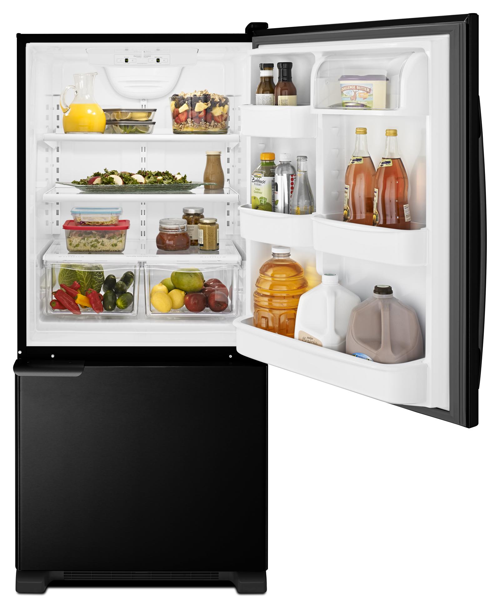 Amana 19 cu. ft. Single-Door Bottom Freezer Refrigerator - Black ABB1921BRB
