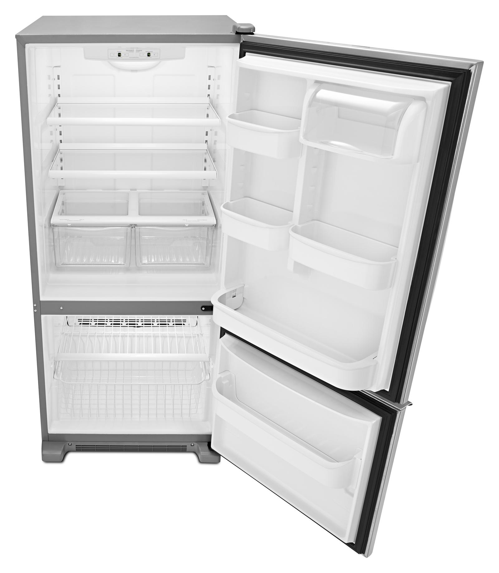 Amana 19 cu. ft. Single-Door Bottom Freezer Refrigerator - Stainless Steel ABB1921BRM