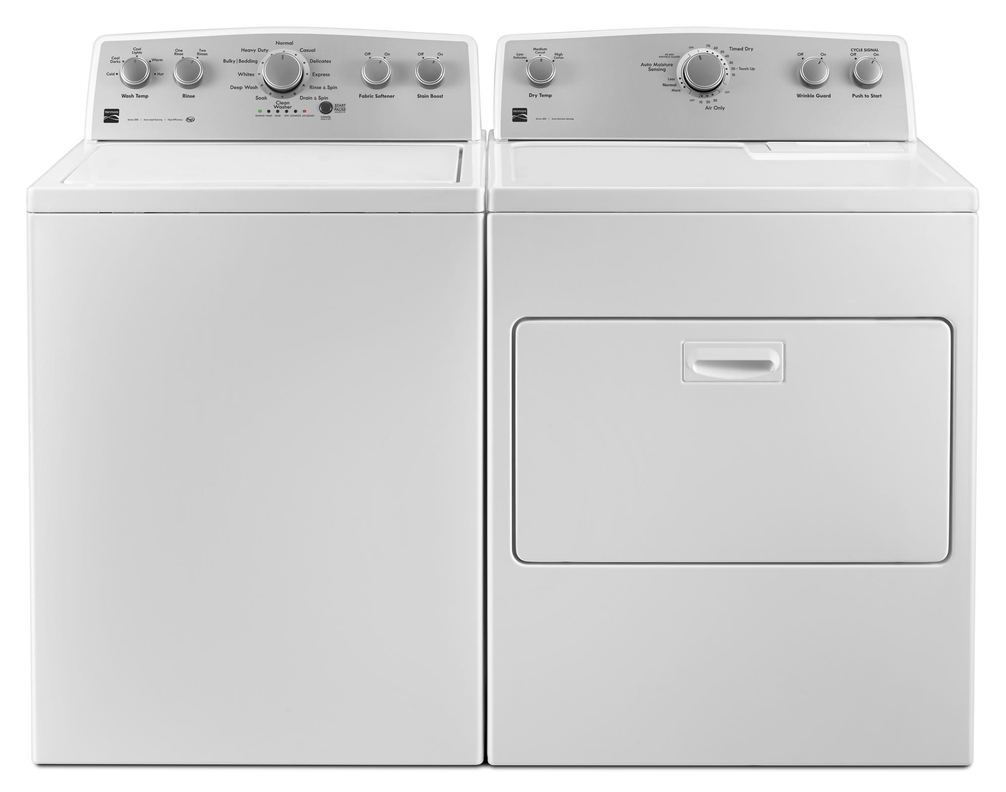 4.3 cu. ft. Top Load Washer & 7.0 cu. ft. Dryer Bundle - White