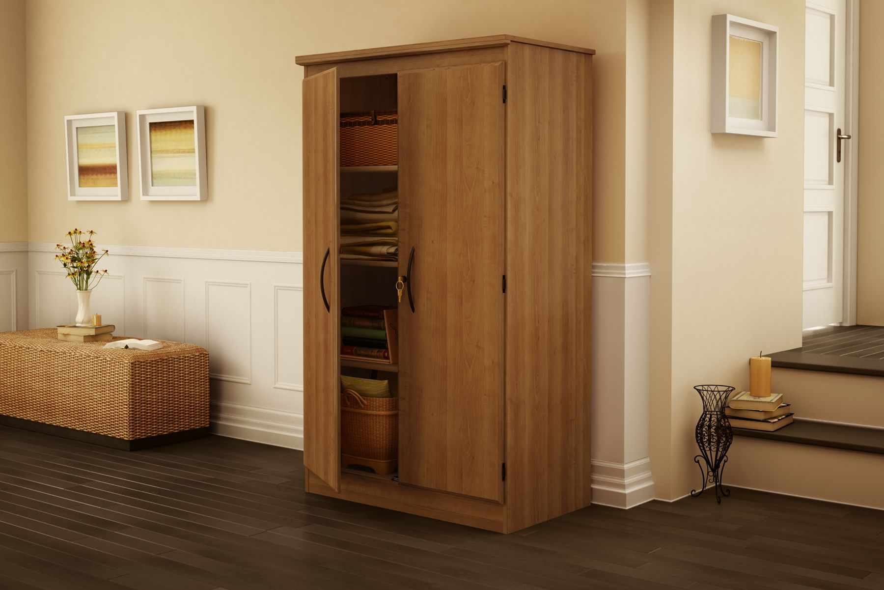 South Shore Morgan collection Storage Cabinet Morgan Cherry