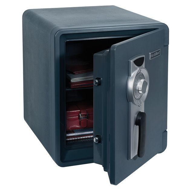 First Alert 2087F 1 Hour Fire Waterproof Safe with Combination Lock, 0.94 Cubic Foot