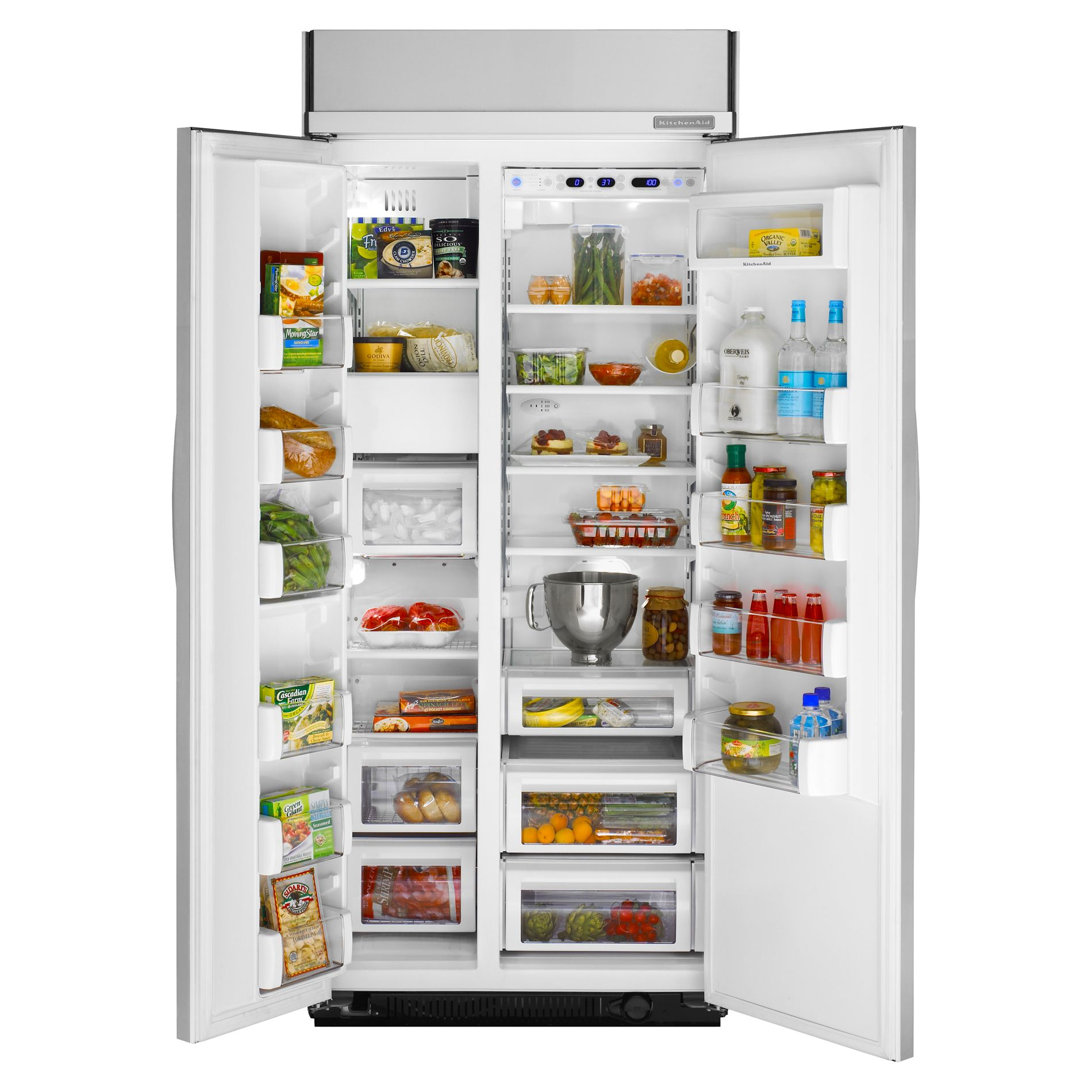 KitchenAid 25.3 cu. ft. Non-Dispensing Built-In Side-By-Side Refrigerator