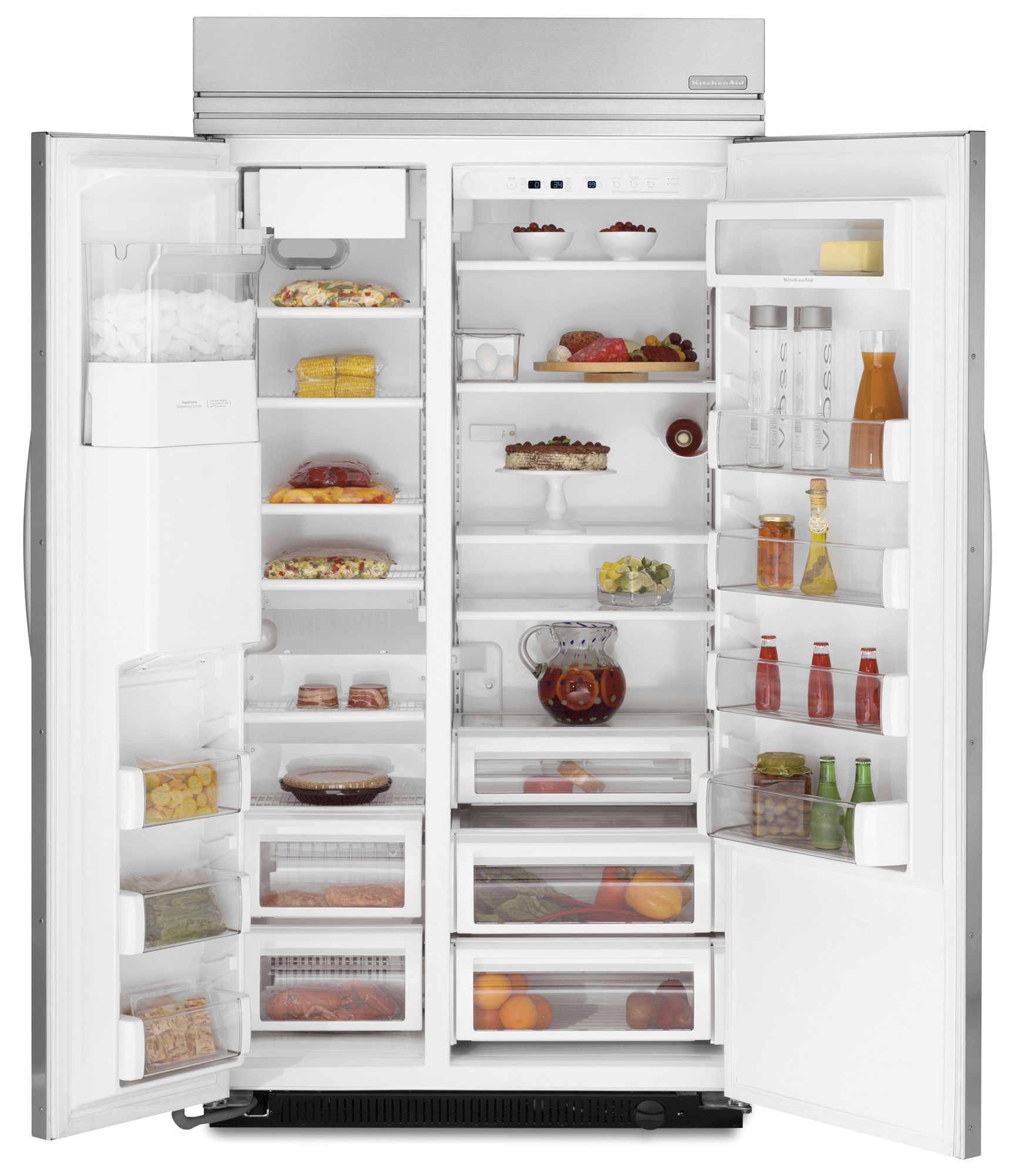 KitchenAid 25.3 cu. ft. Built-In Side-By-Side Refrigerator