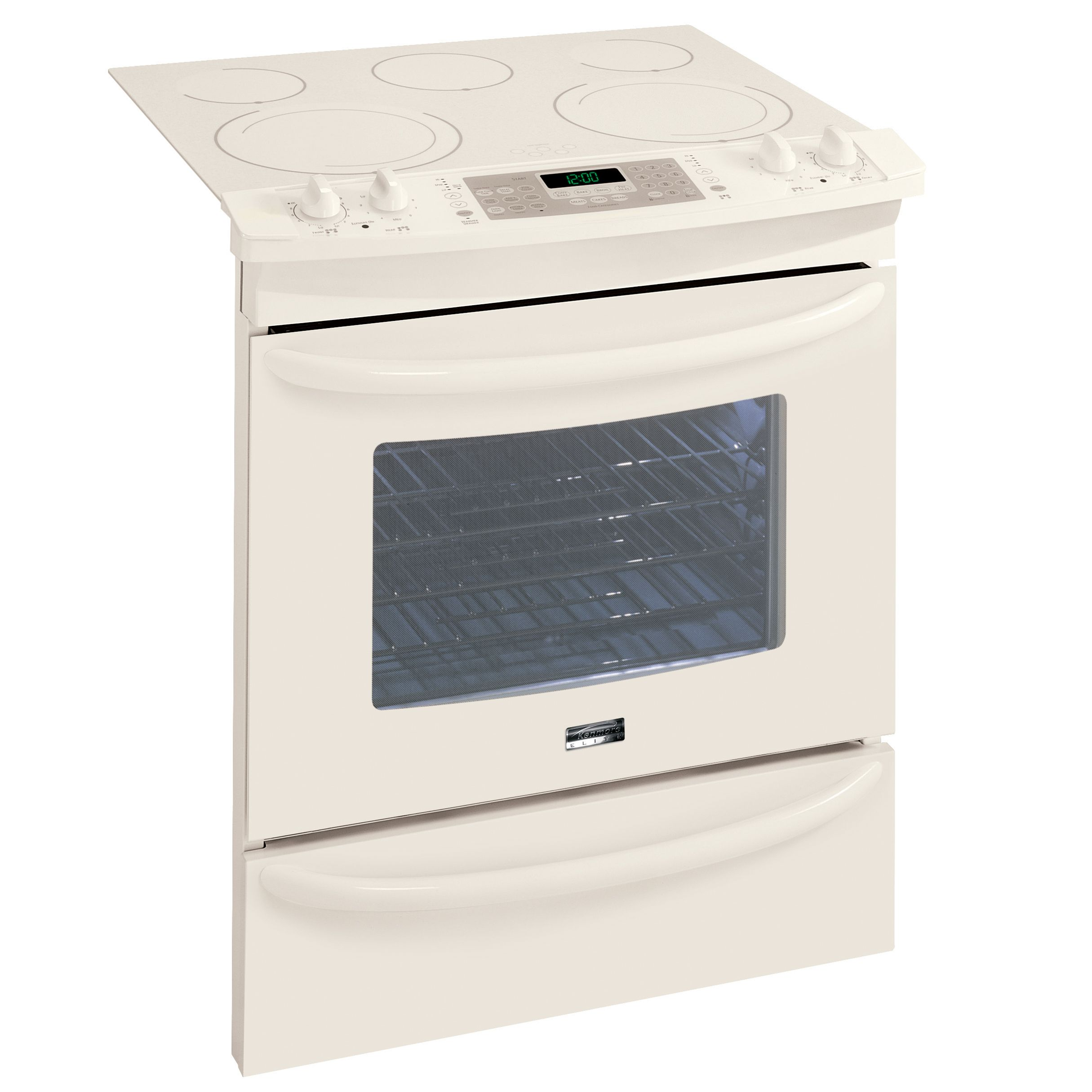 Kenmore Elite 30 in. Electric Self Clean Slide-In Range with Warm & Ready™ Drawer