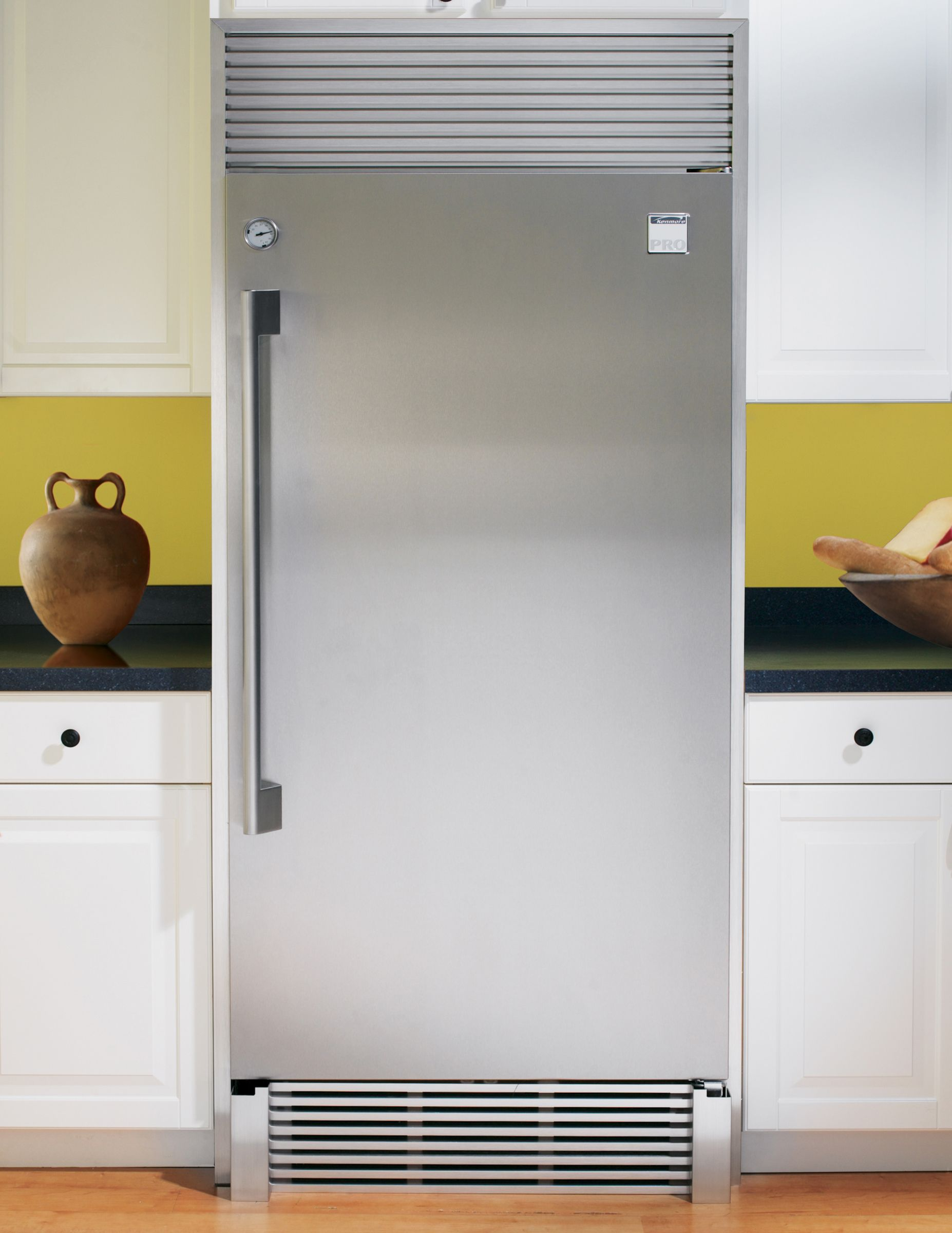Kenmore Pro Refrigerator Stainless Steel Trim Kit with Riser