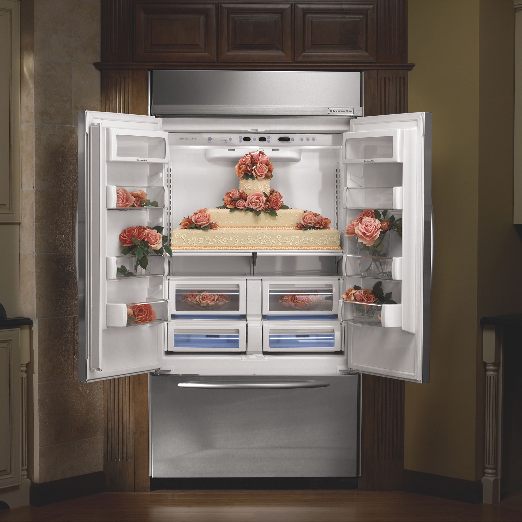 KitchenAid 22.6 cu. ft. Built-In French-Door Bottom Freezer Refrigerator