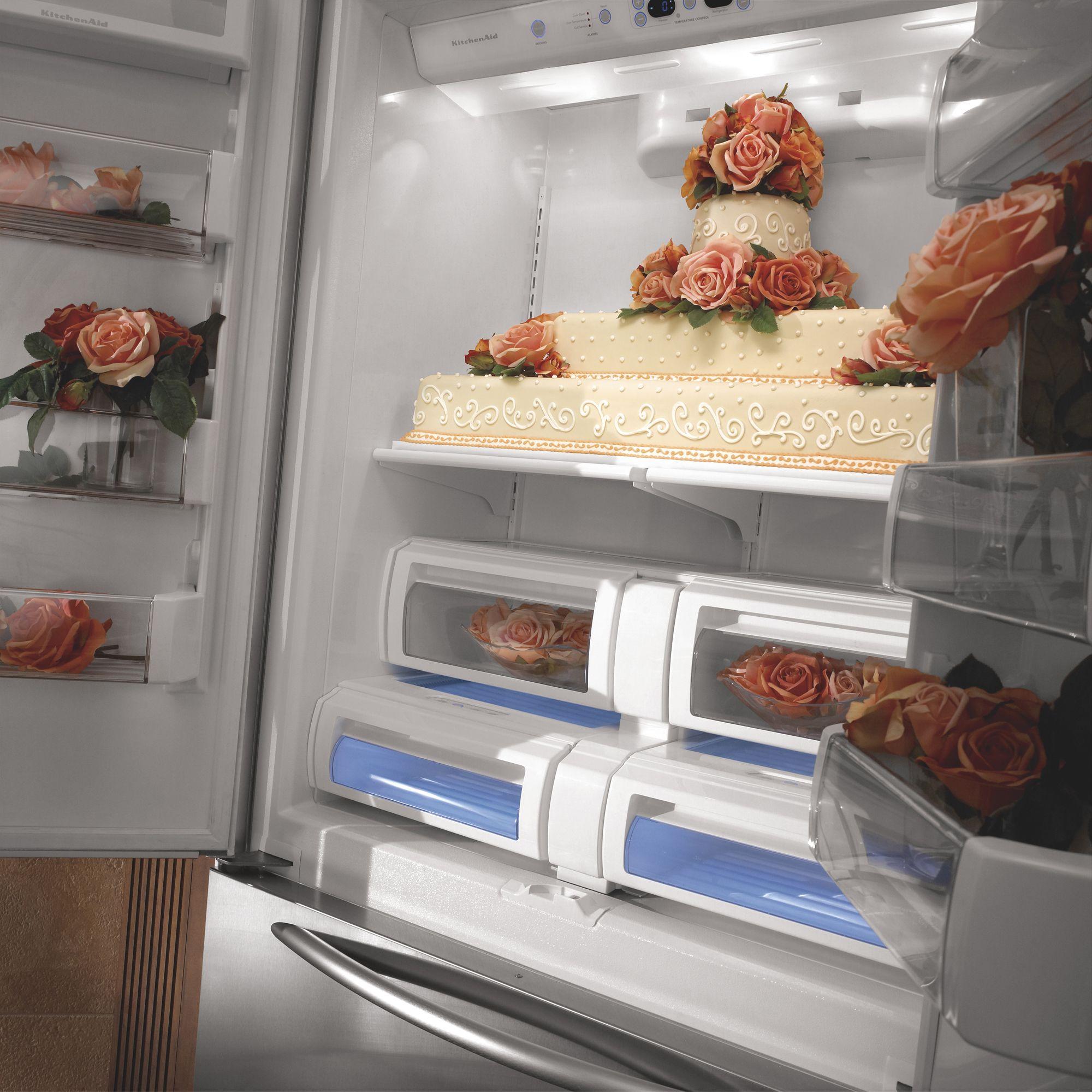 KitchenAid 22.6 cu. ft. Counter-Depth Built-In French-Door Bottom Freezer Refrigerator
