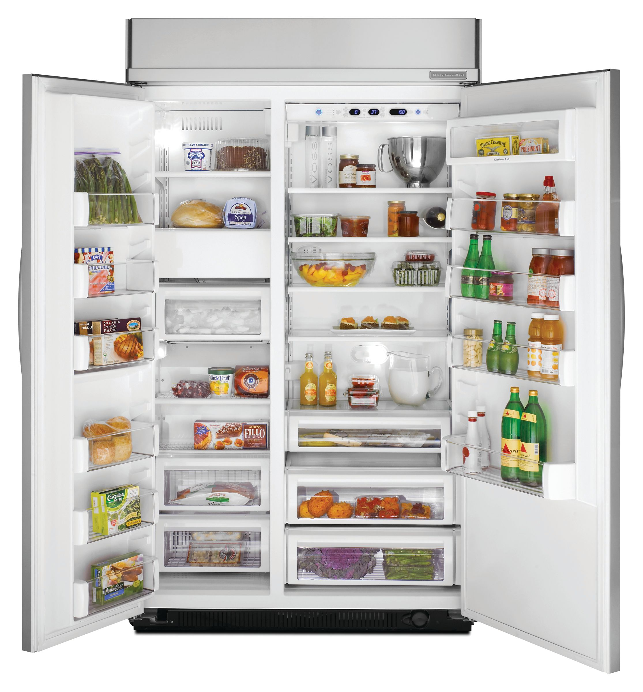 KitchenAid 29.8 cu. ft. Non-Dispensing Built-In  Side-By-Side Refrigerator