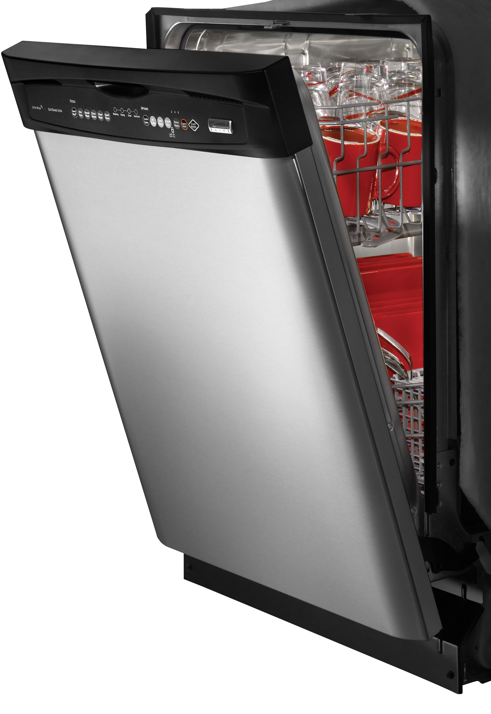 Kenmore Elite Elite® 24 in. Built-In Dishwasher with Ultra Wash HE Filtration (1312)
