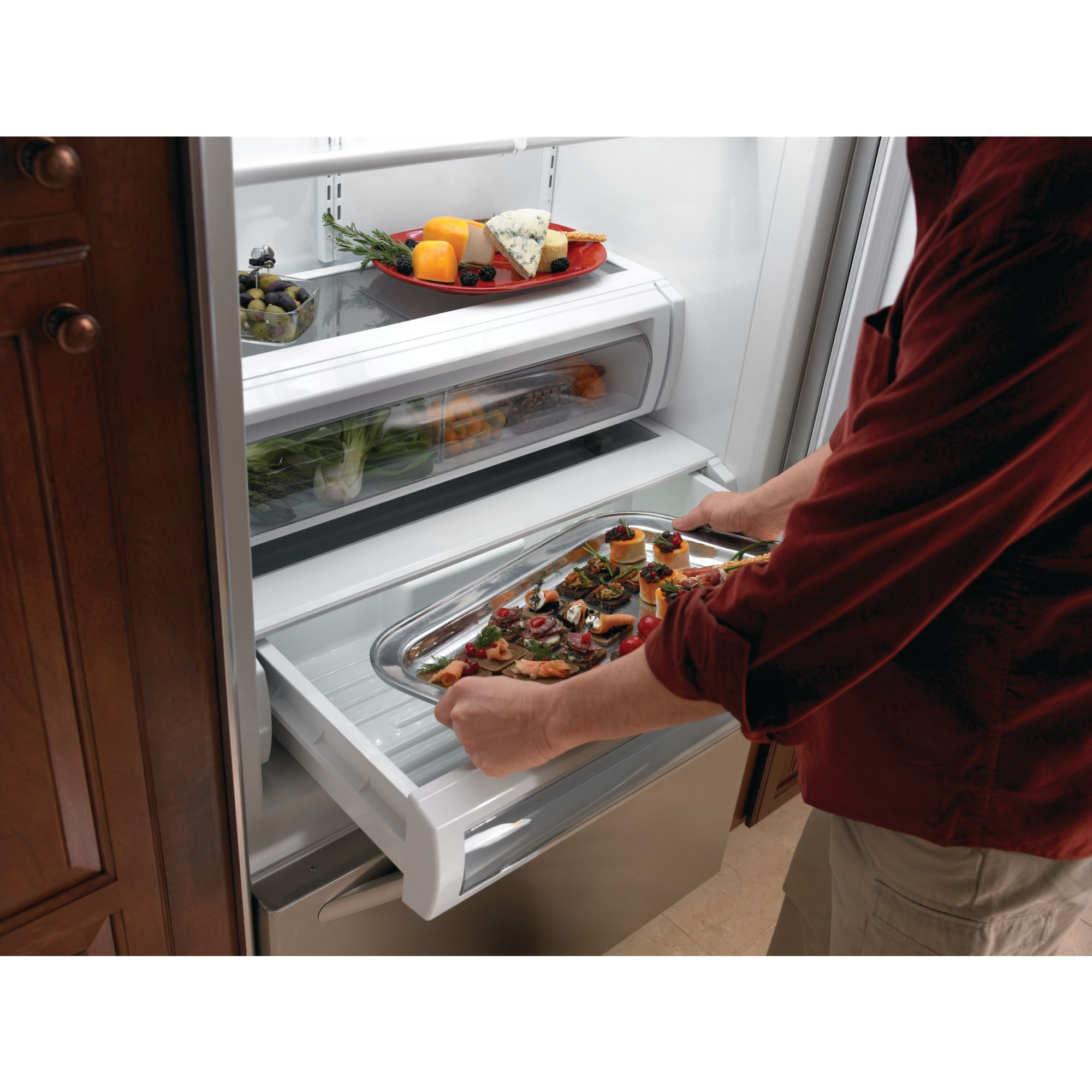 KitchenAid 20.5 cu. ft. Built-In Bottom Freezer Refrigerator