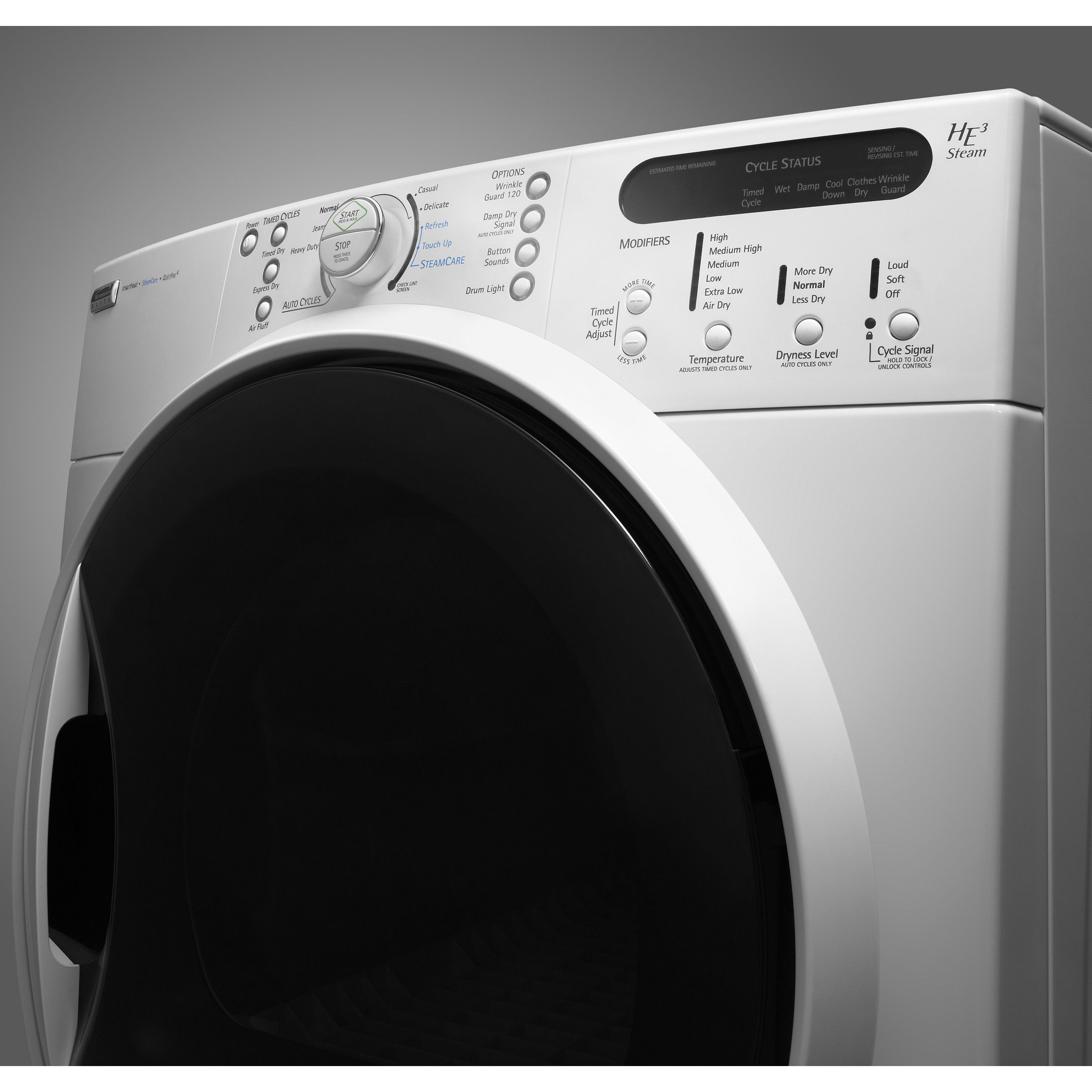 Kenmore Elite HE3 Steam™ 7.2 cu. ft. Super Capacity Electric Dryer