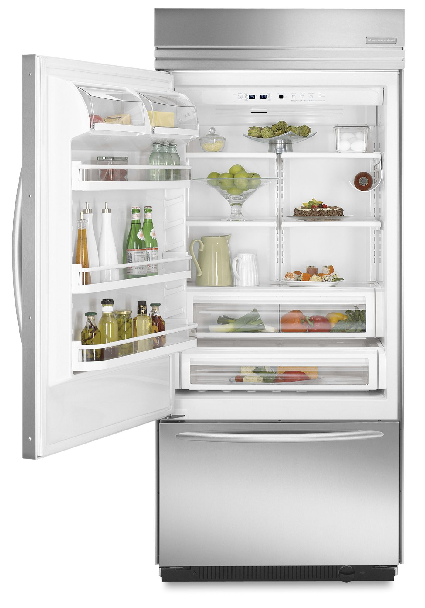 KitchenAid 20.5 cu. ft. Counter-Depth Built-In Bottom Freezer Refrigerator