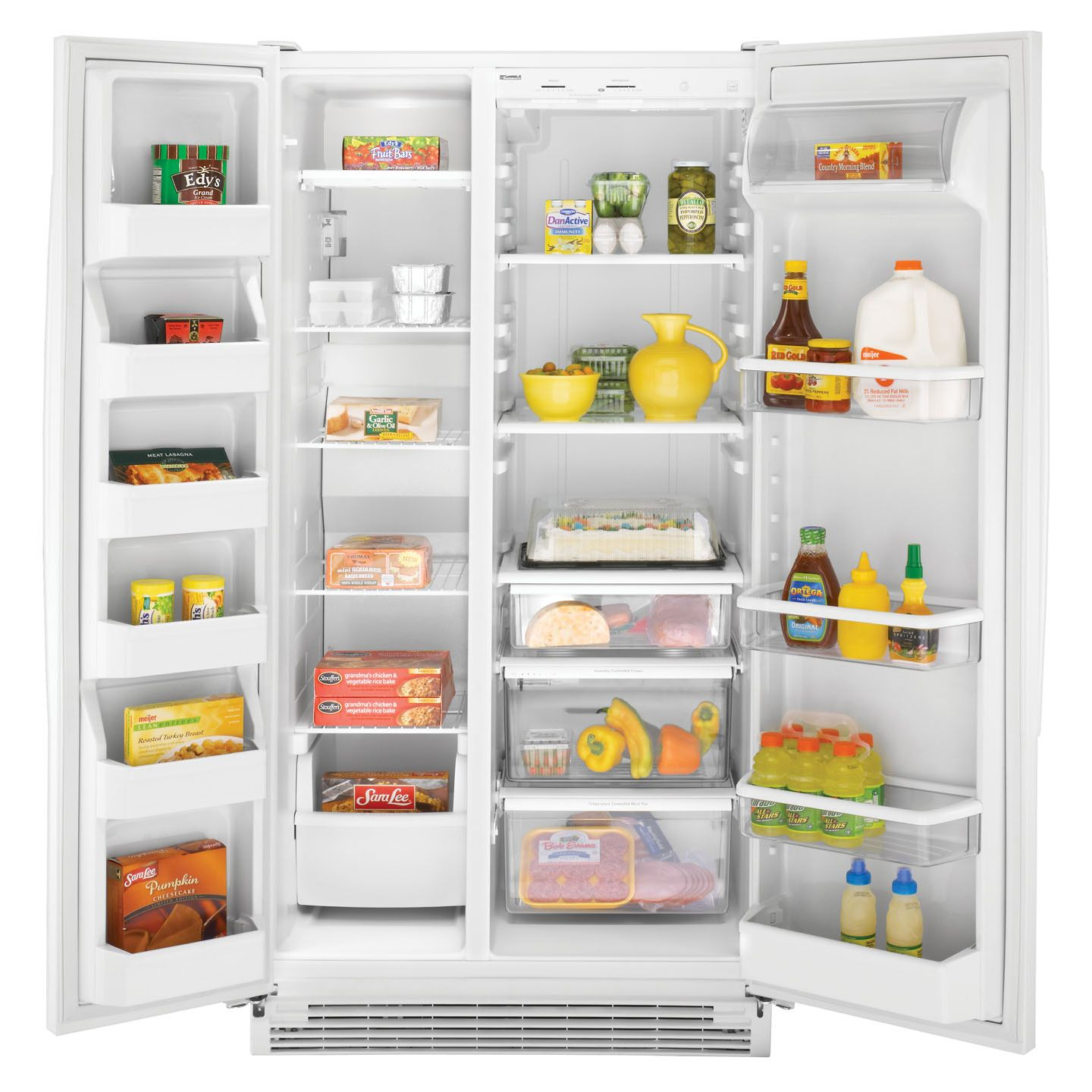 Kenmore 21.5 cu. ft. Non-Dispensing Side-By-Side Refrigerator