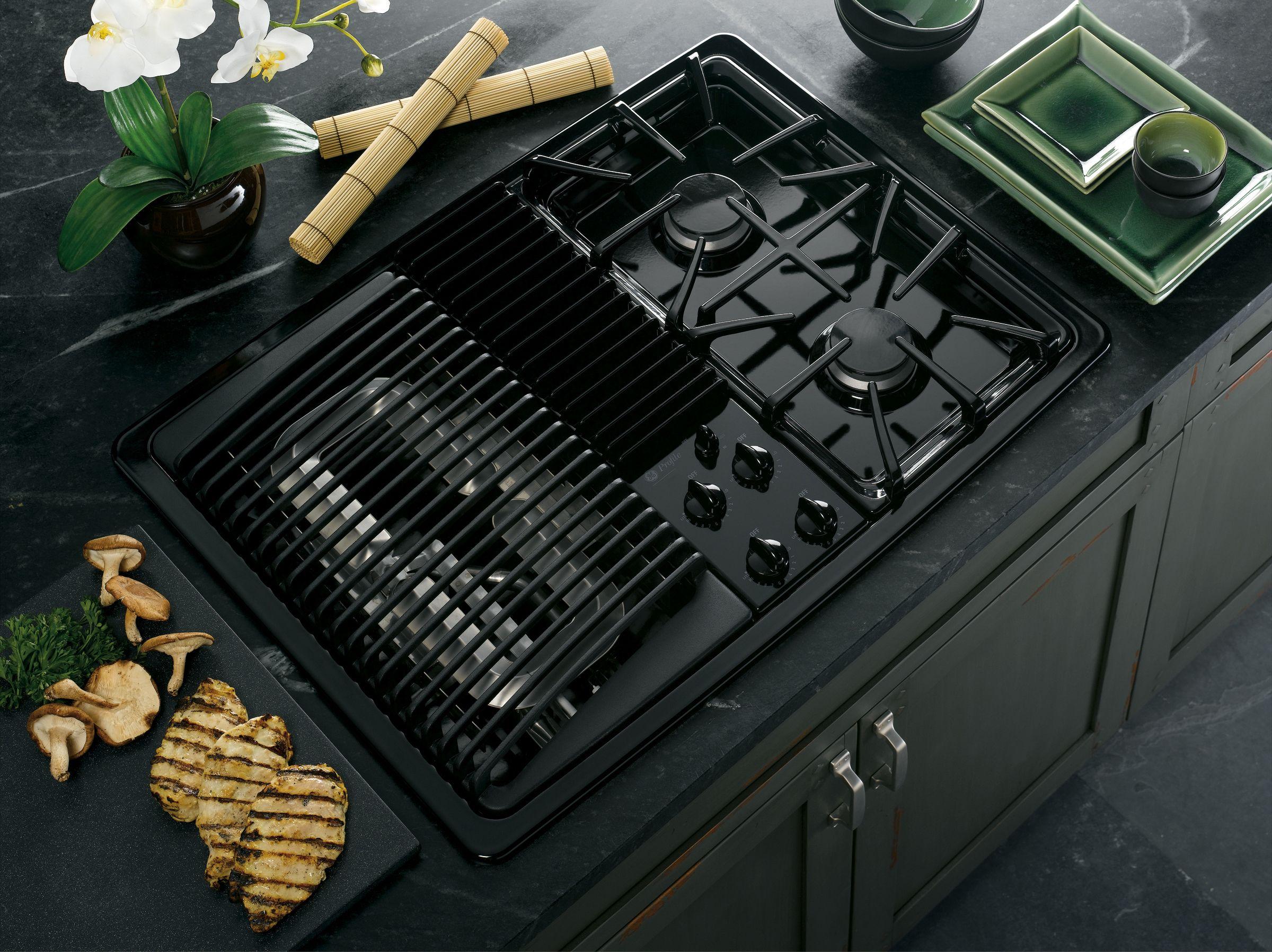 """GE Profile™ Series 30"""" Built-In Modular Gas Cooktop"""