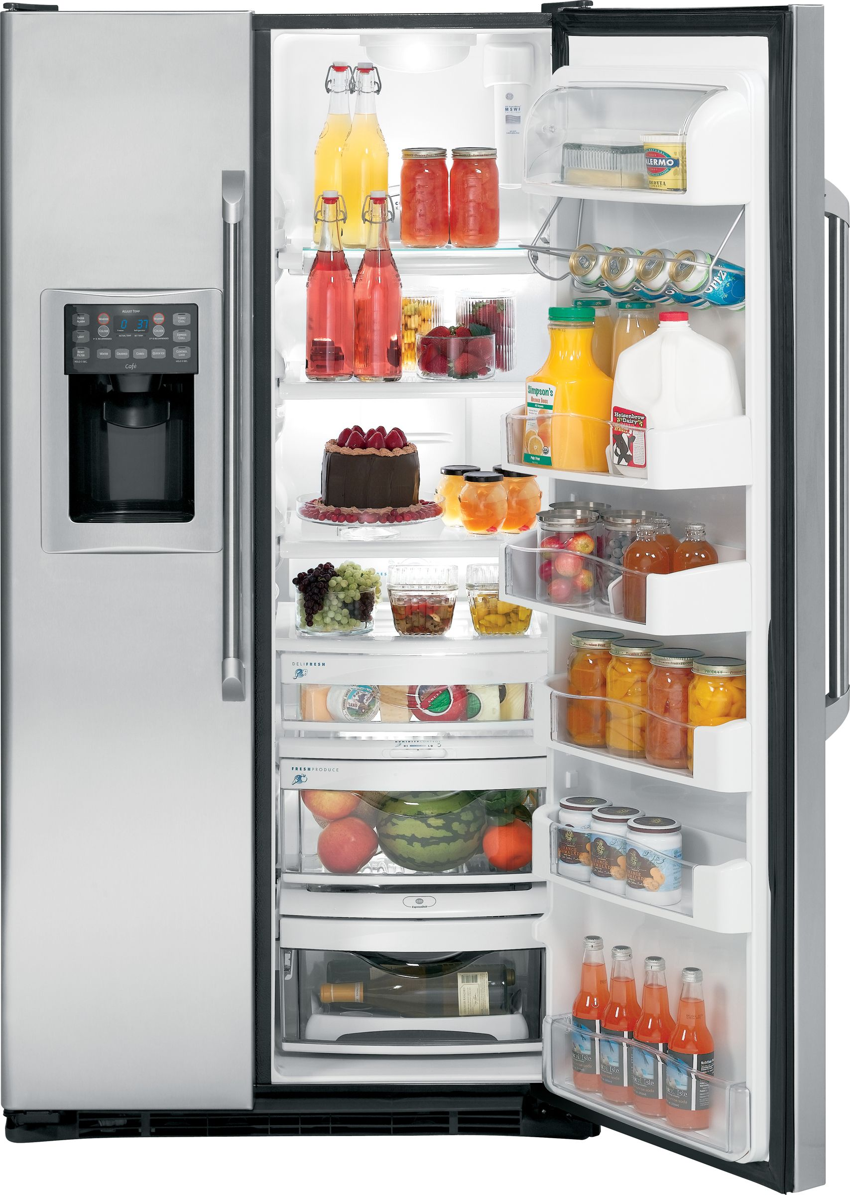 GE Café Caf&eacute:™ Series  24.6 cu. ft. Counter Depth Side-By-Side Refrigerator