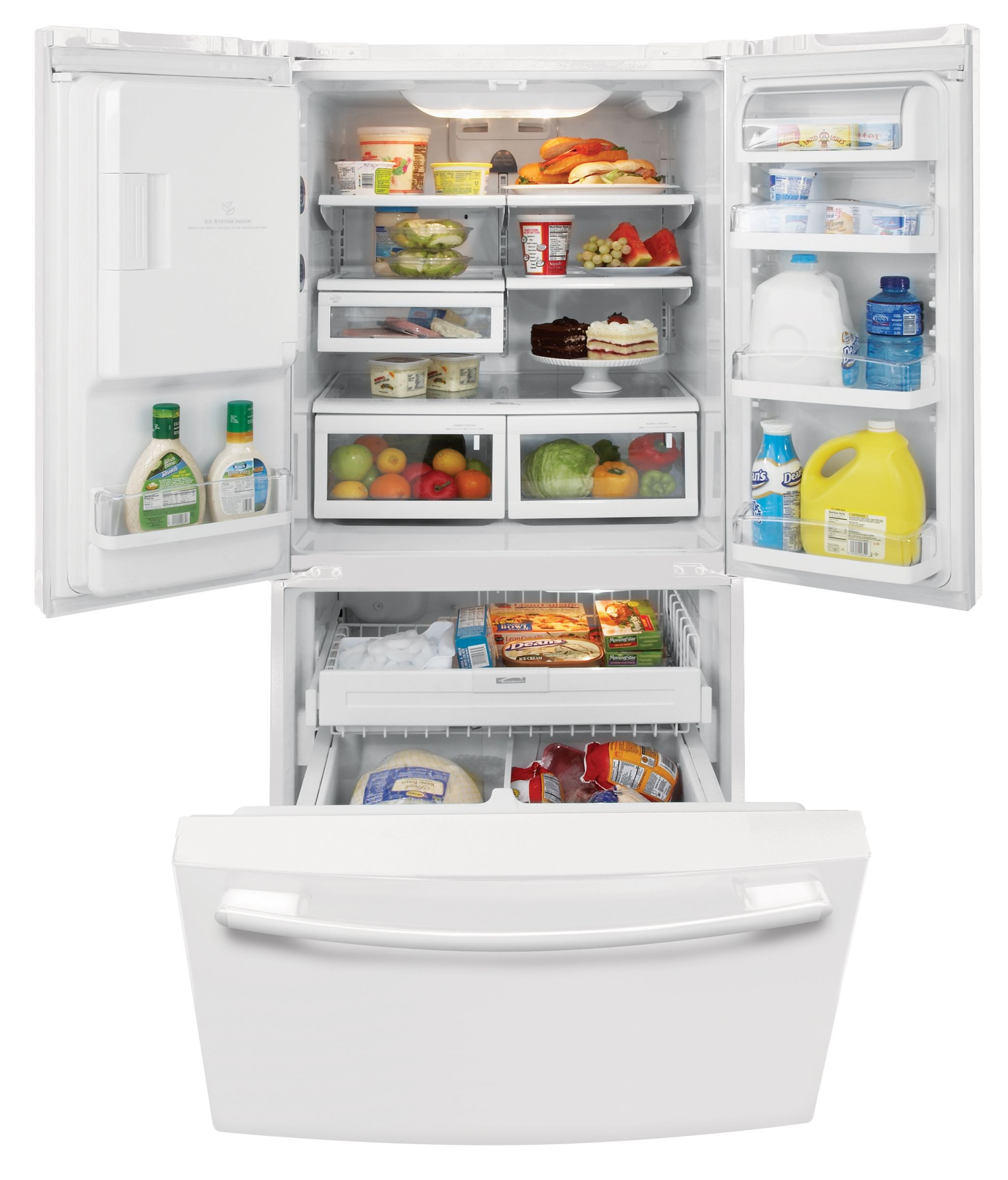 Kenmore 23.0 cu. ft. French-Door Bottom Freezer Refrigerator (7840)