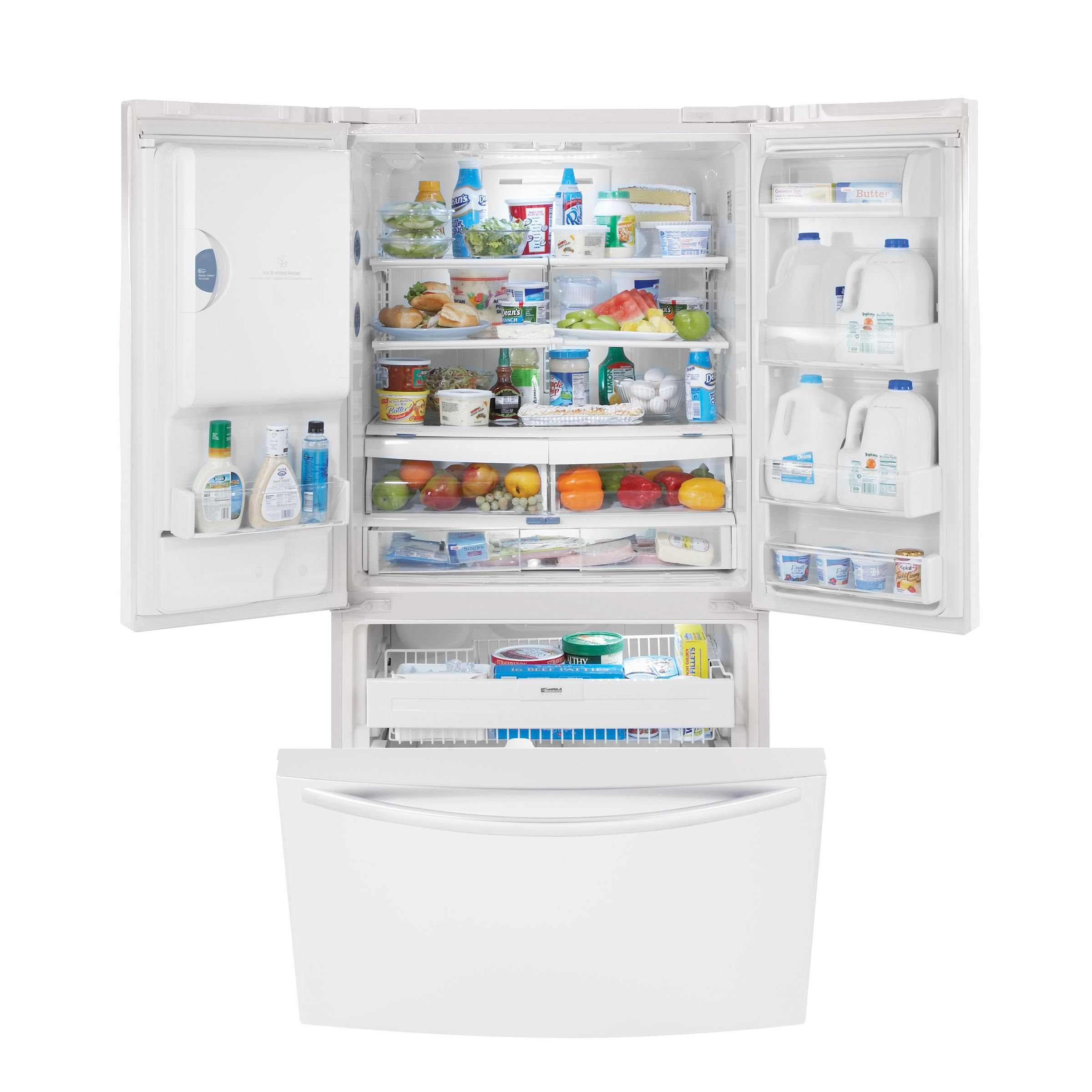 Kenmore Elite 25.0 cu. ft. TRIO® Ice & Water Dispensing French-Door Refrigerator