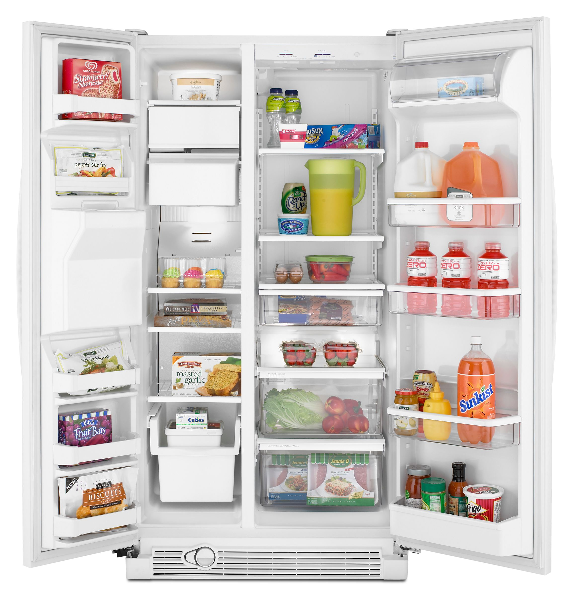 Amana 25.4 cu. ft. Side-By-Side Refrigerator w/ PUR® Water Filtration (ASD2524VE)