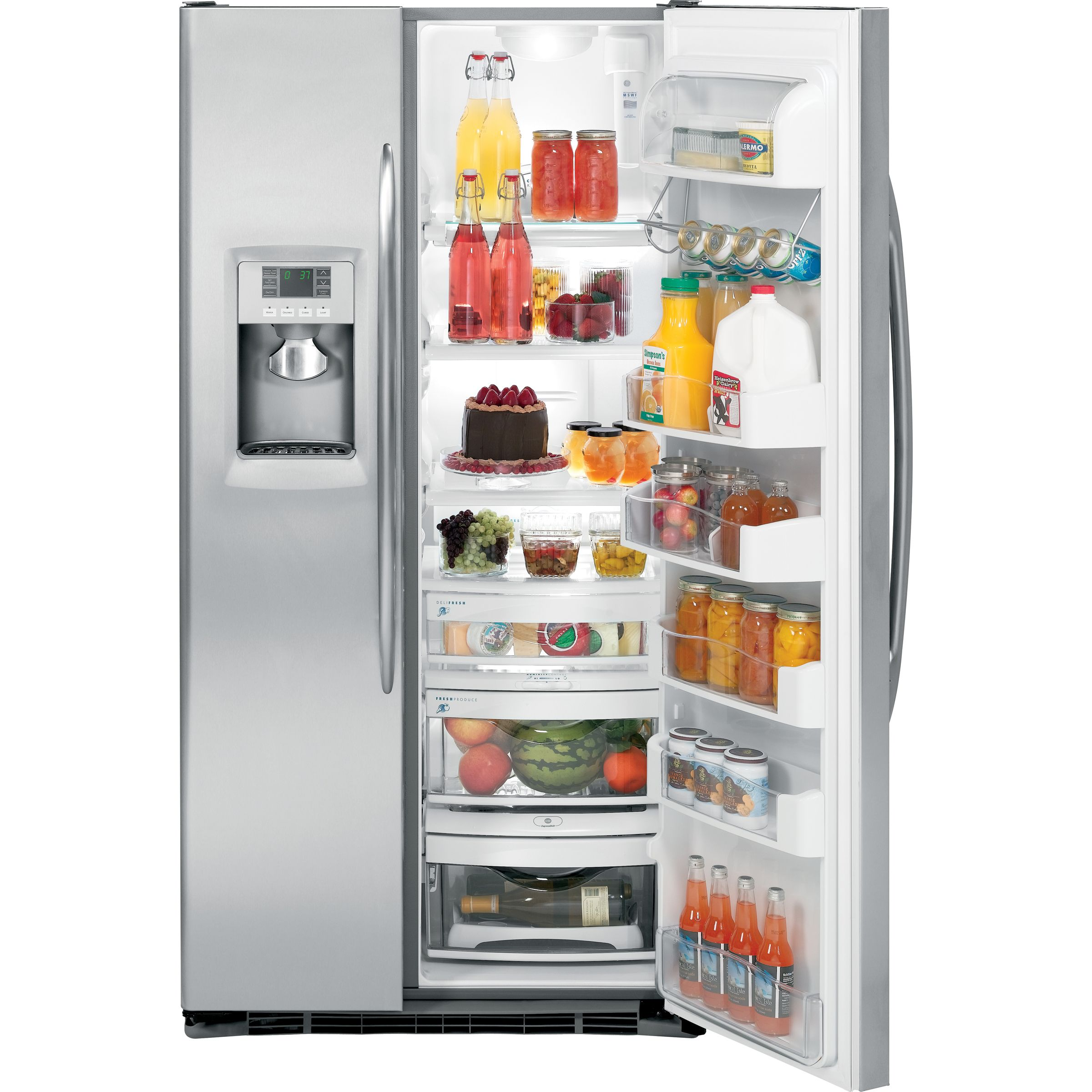 GE 24.6 cu. ft. Counter Depth Side-By-Side Refrigerator