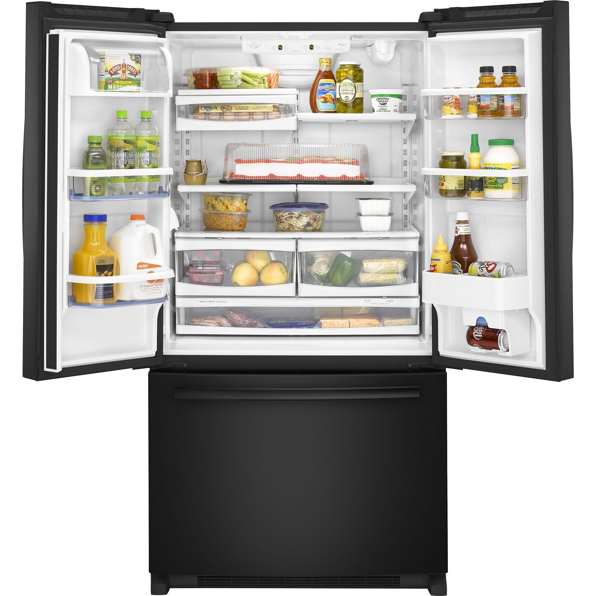 Whirlpool 24.8 cu. ft. French Door Bottom Freezer Refrigerator with Contour Doors
