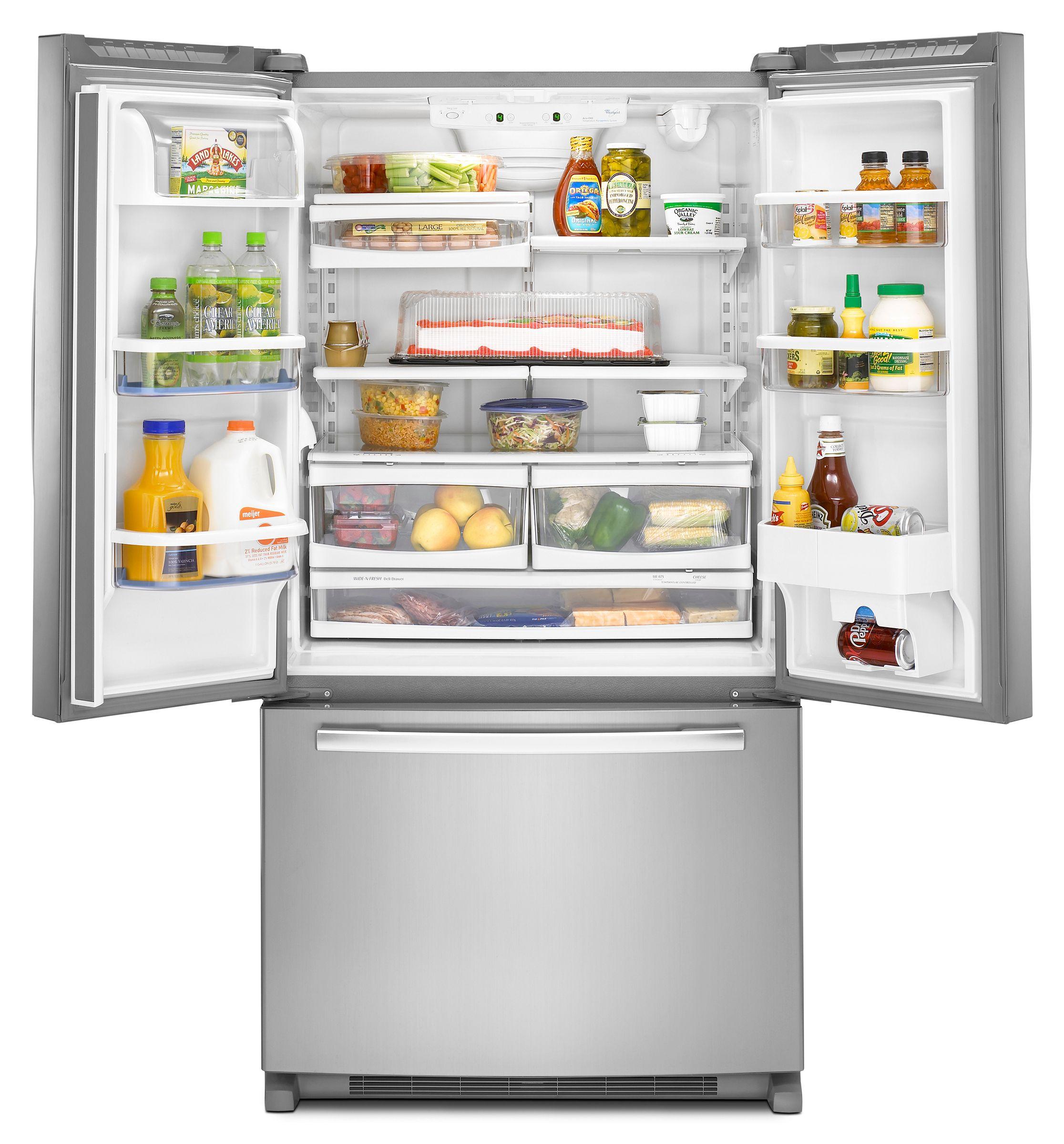 Whirlpool 24.8 cu. ft. French Door Bottom Freezer Refrigerator w/ Contour Doors